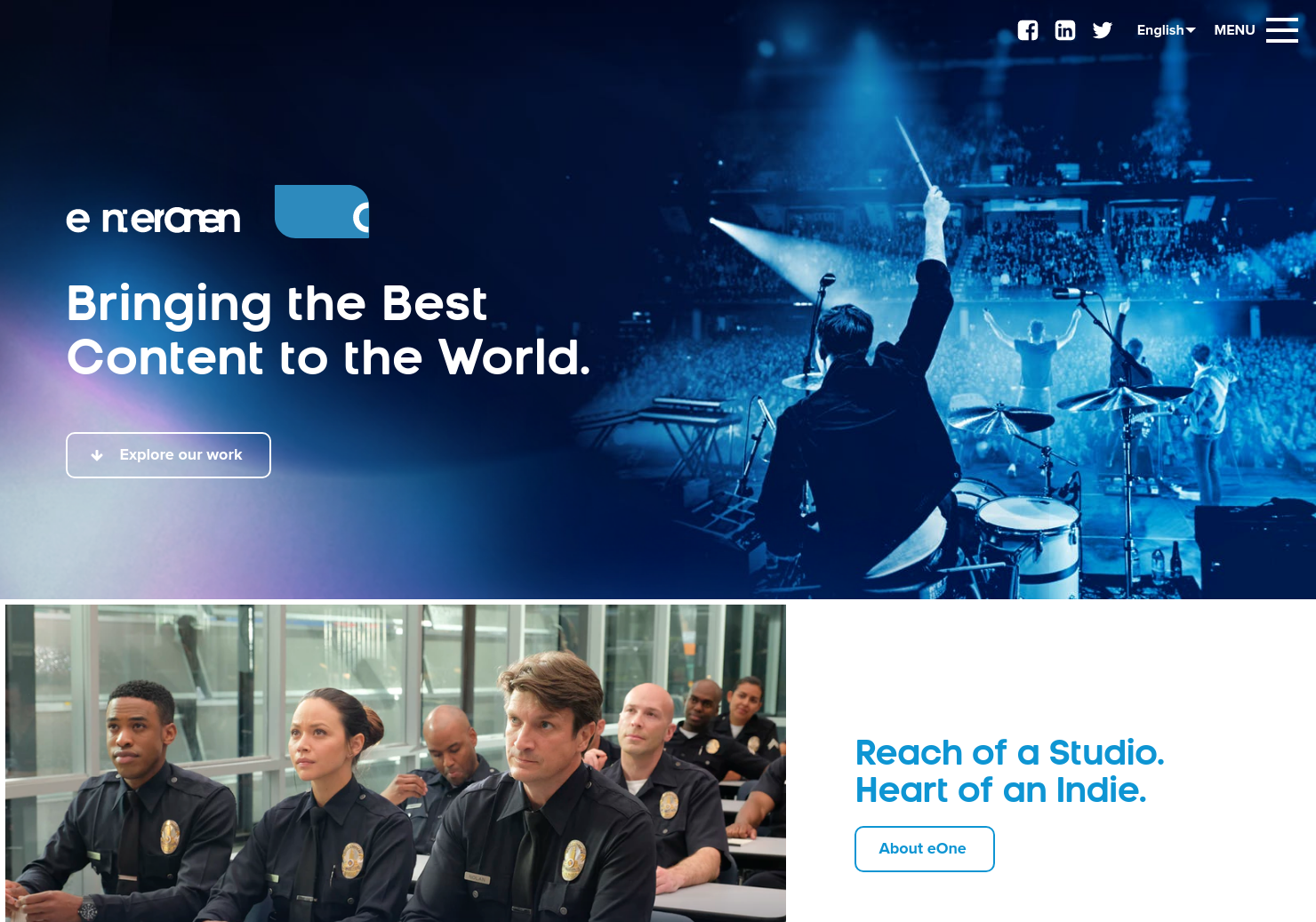 Entertainment One Home Page