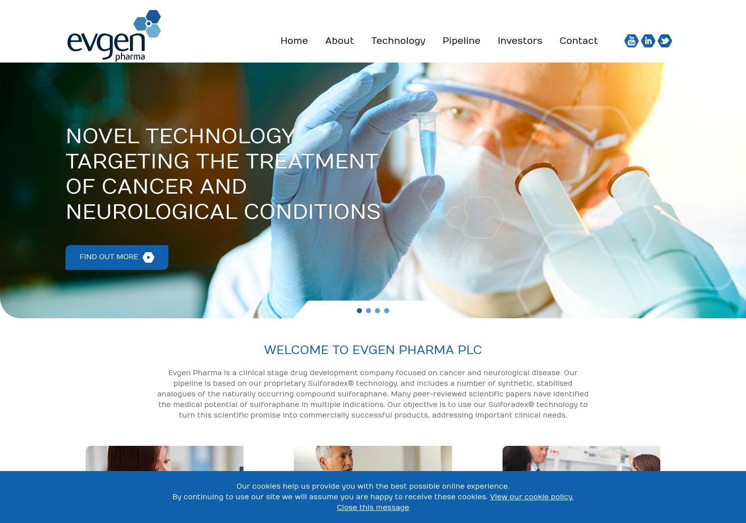 Evgen Pharma Home Page