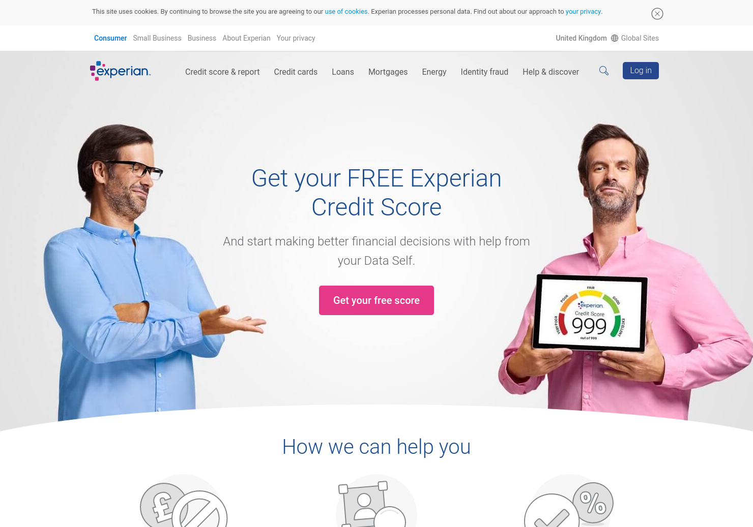 Experian Home Page