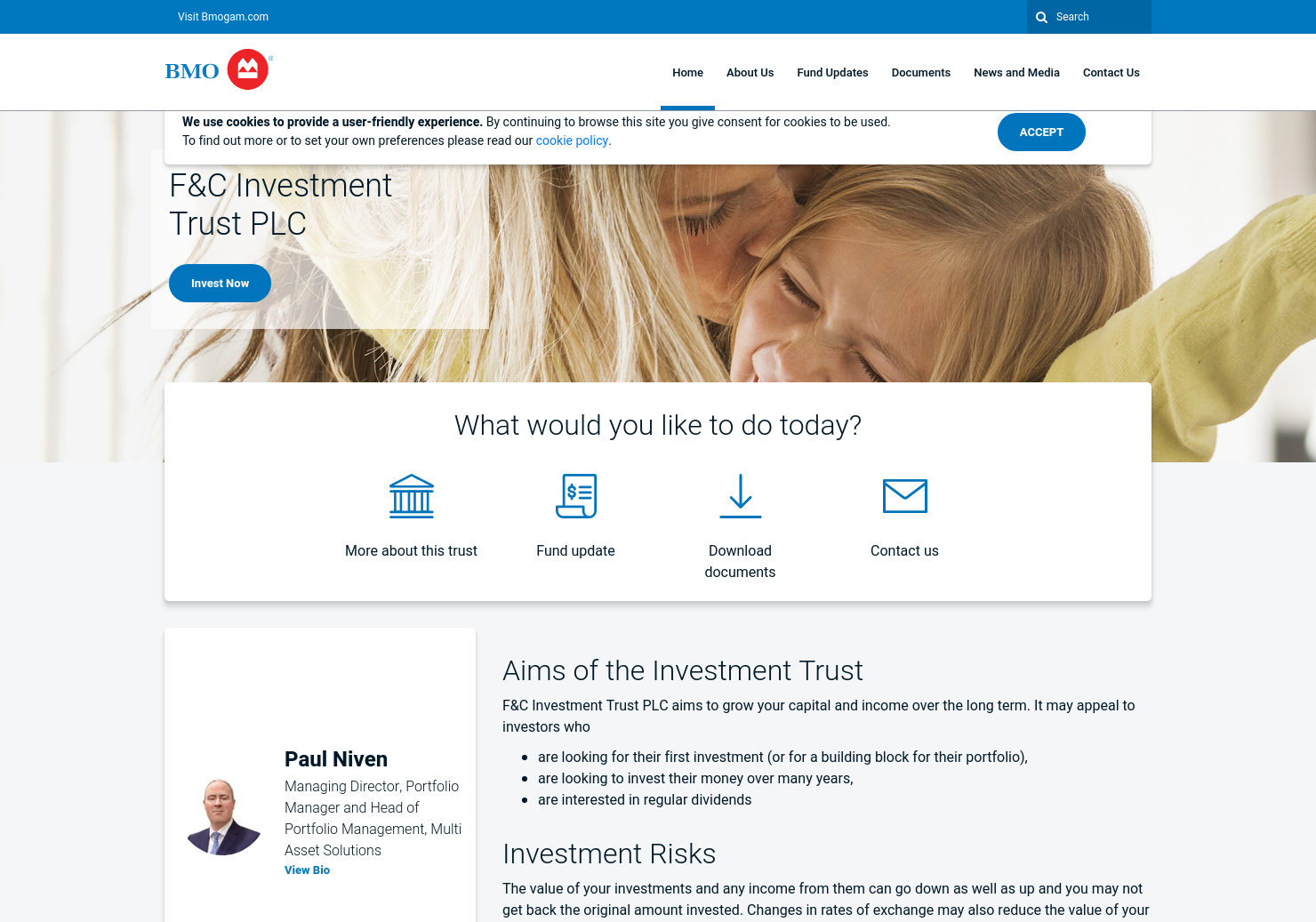 F&C Investment Trust Home Page