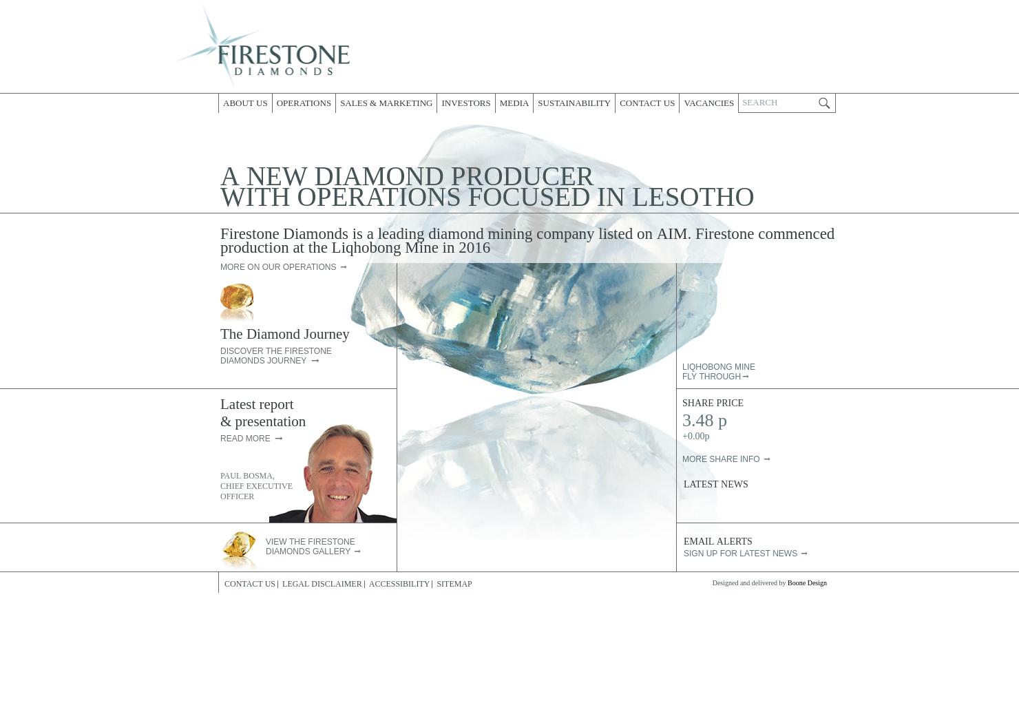 Firestone Diamonds Home Page