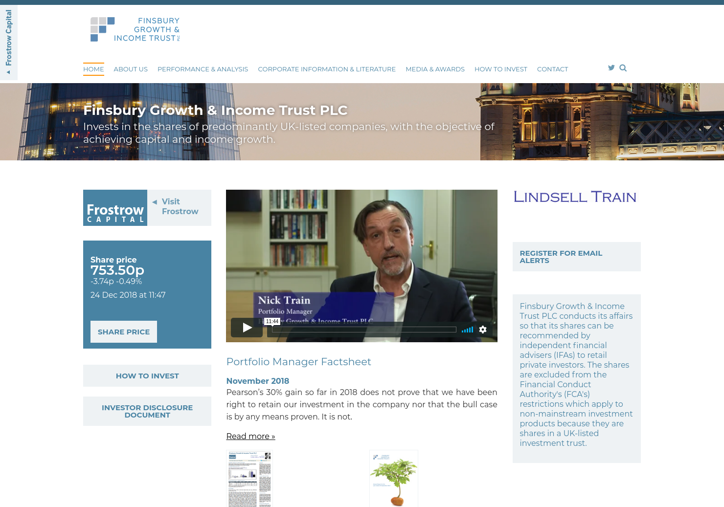 Finsbury Growth Home Page