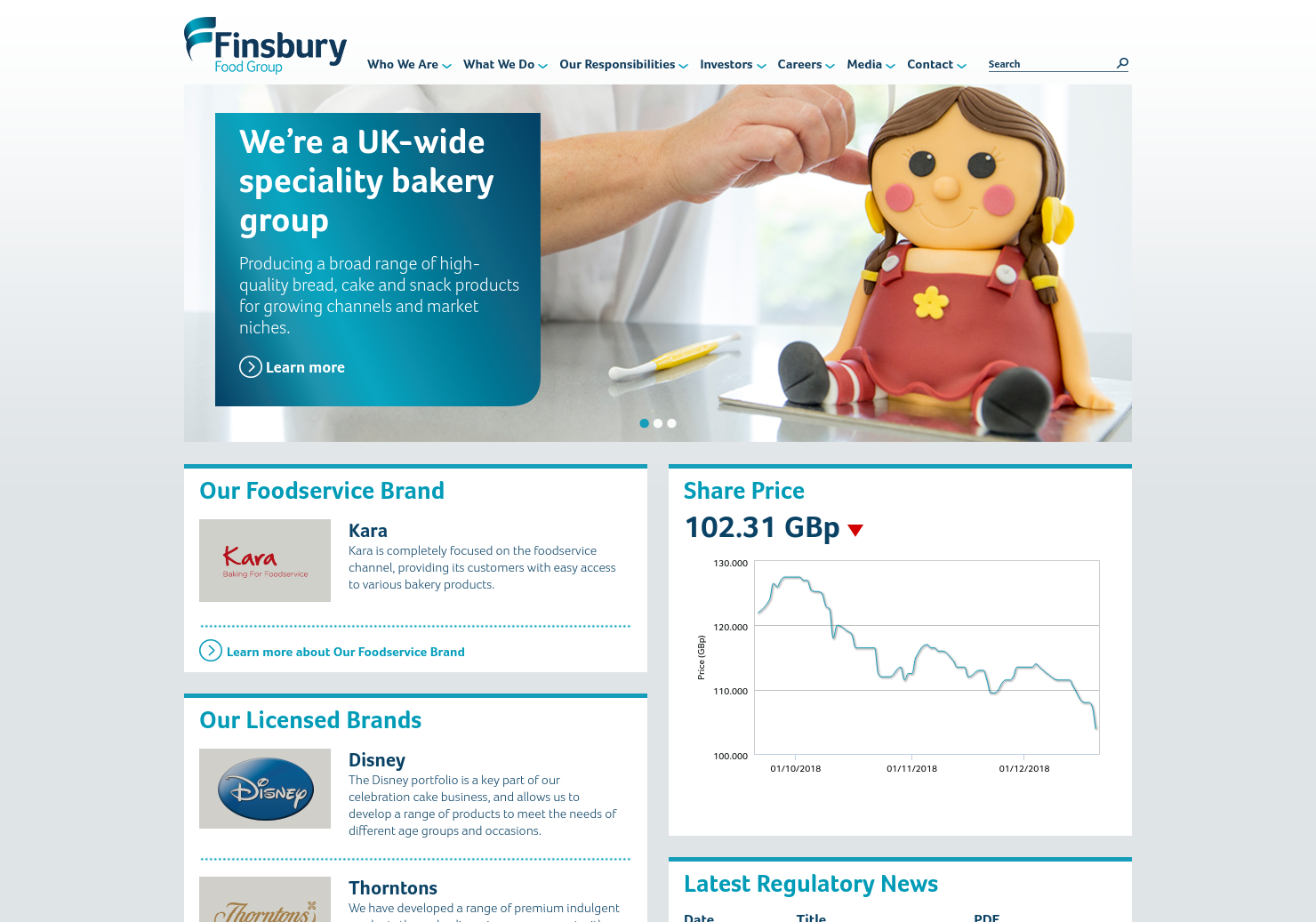 Finsbury Food Home Page