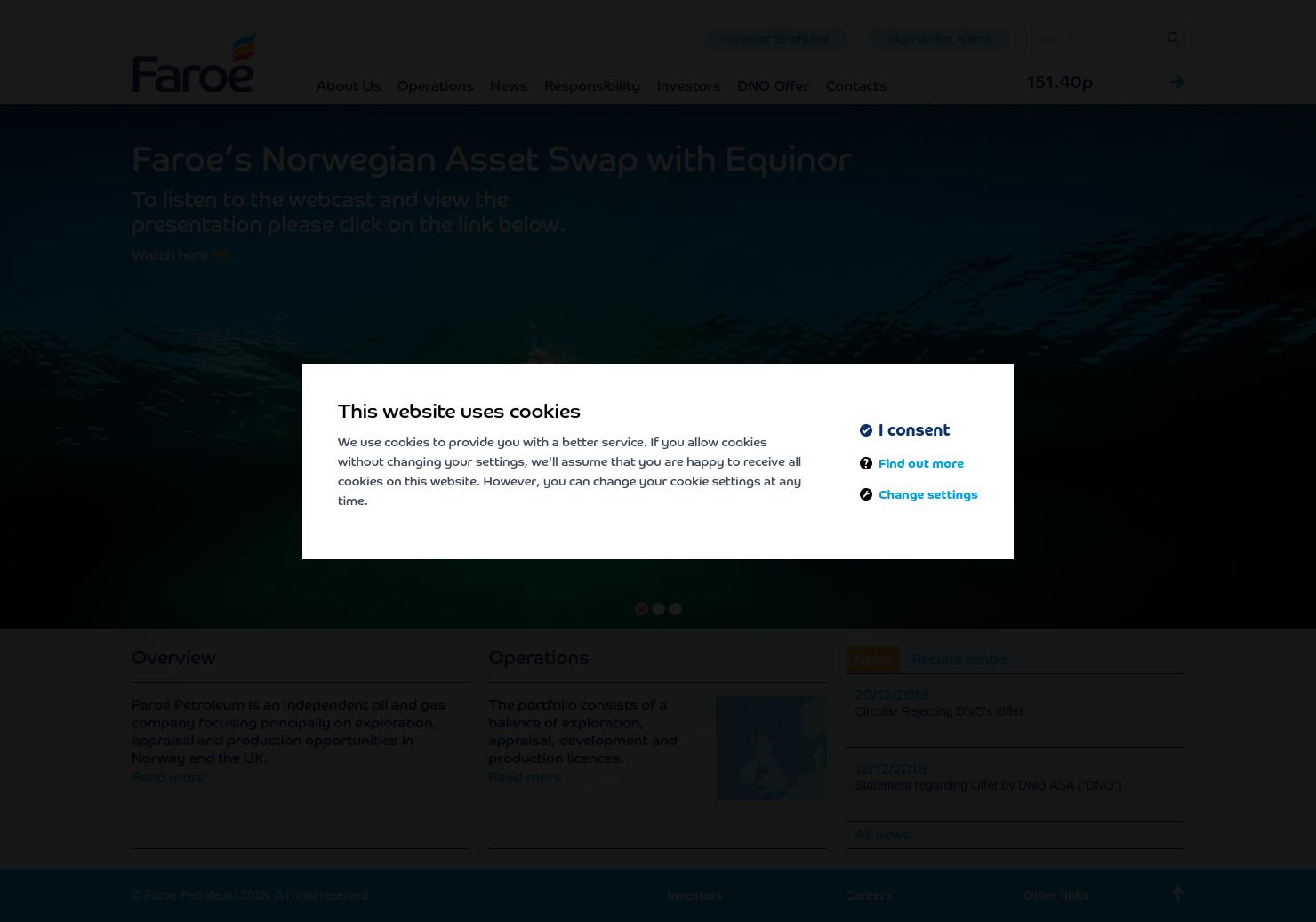 Faroe Petroleum Plc Home Page
