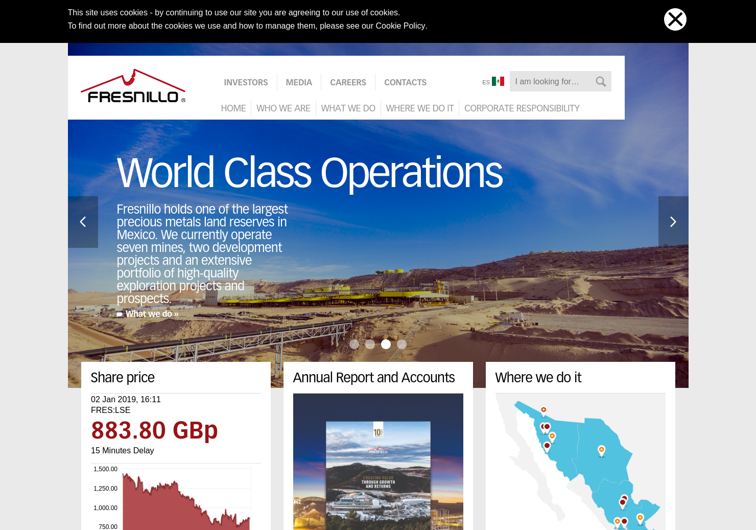 Fresnillo Home Page