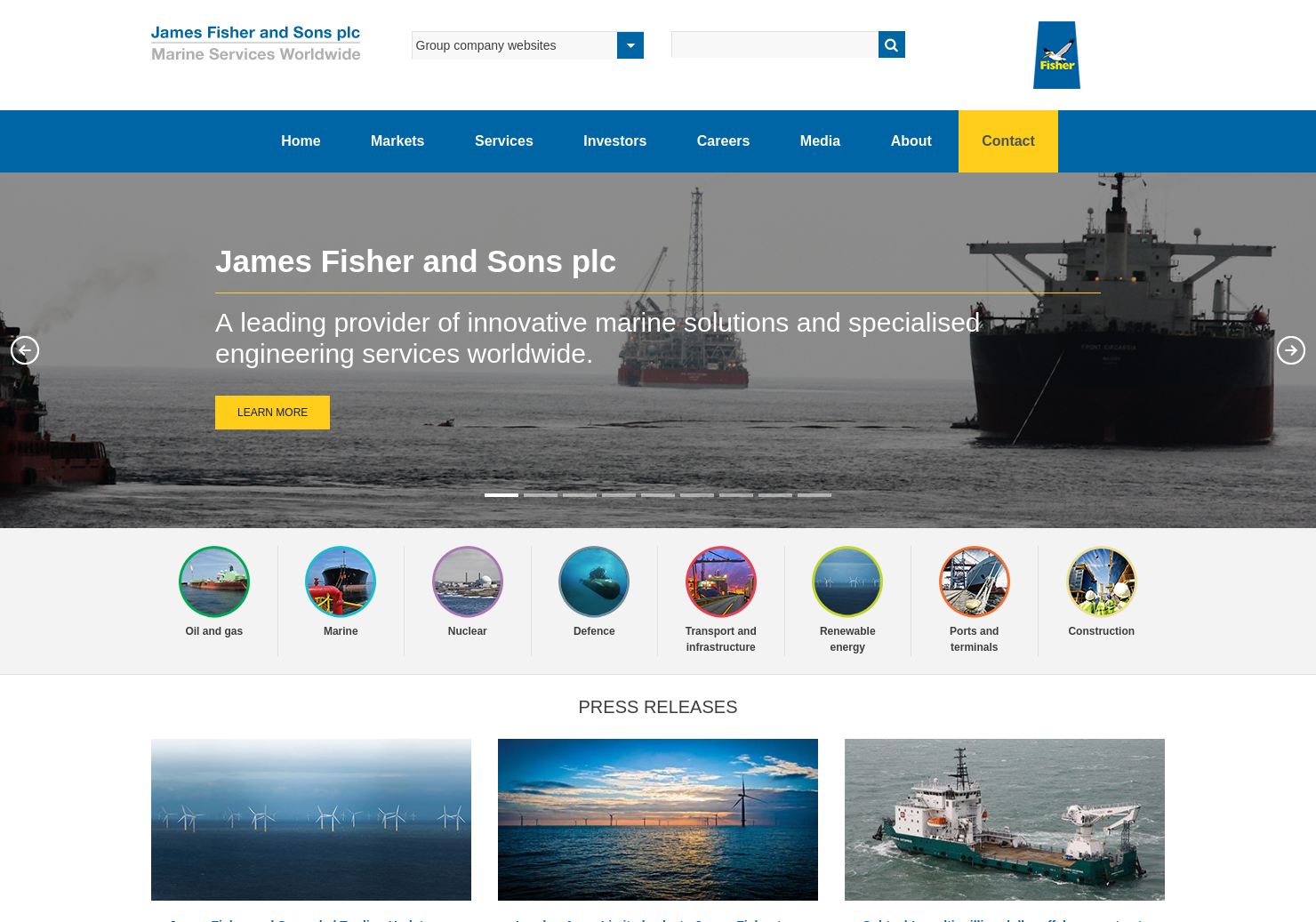 James Fisher and Sons Home Page