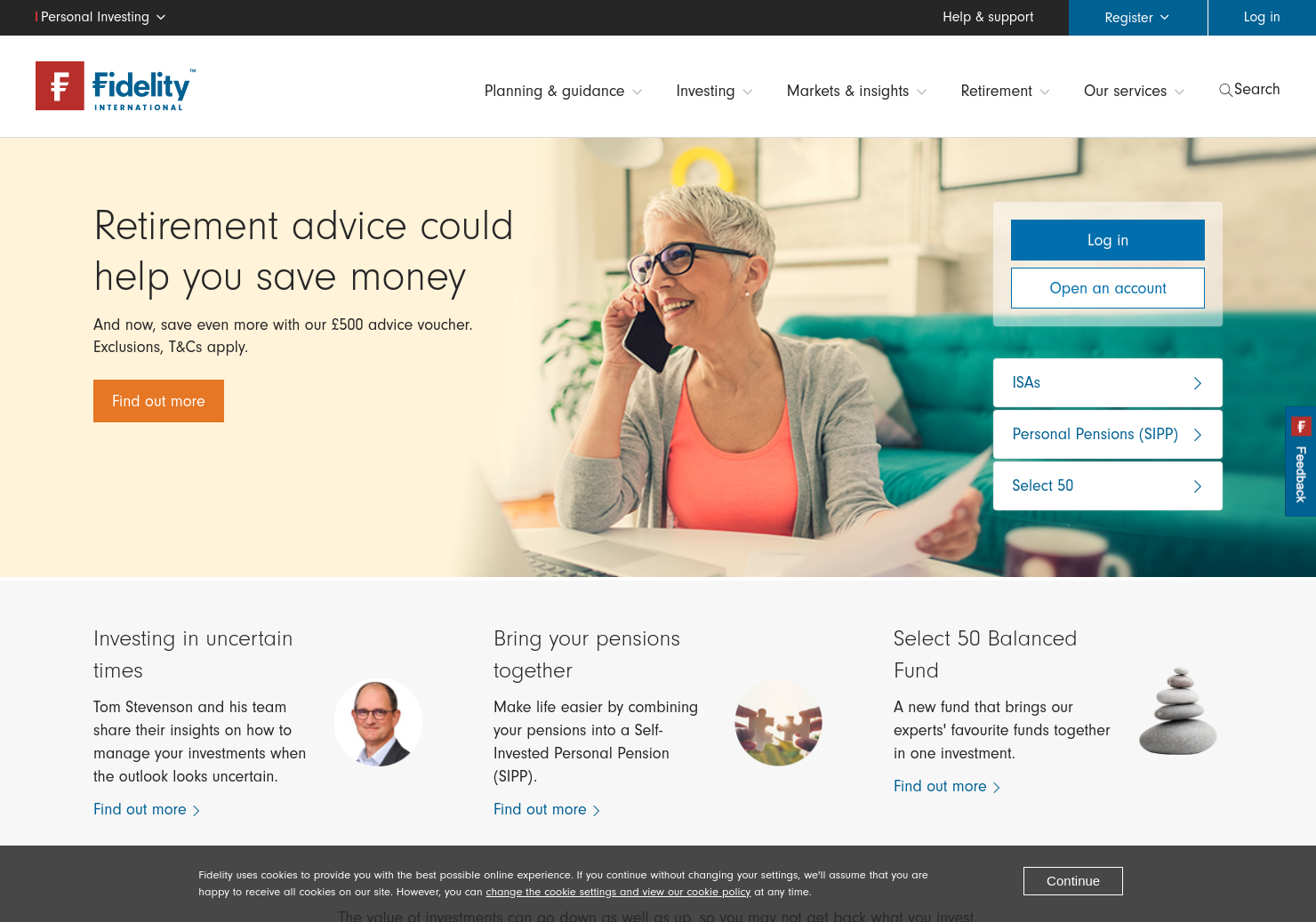 Fidelity Home Page