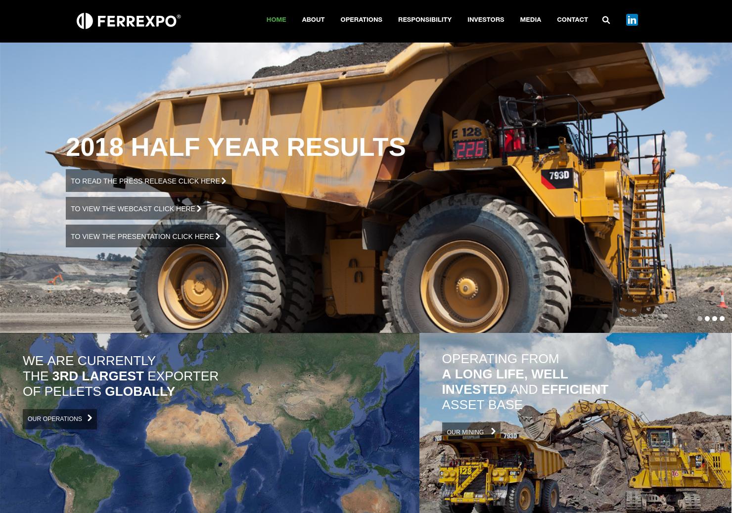 Ferrexpo Home Page