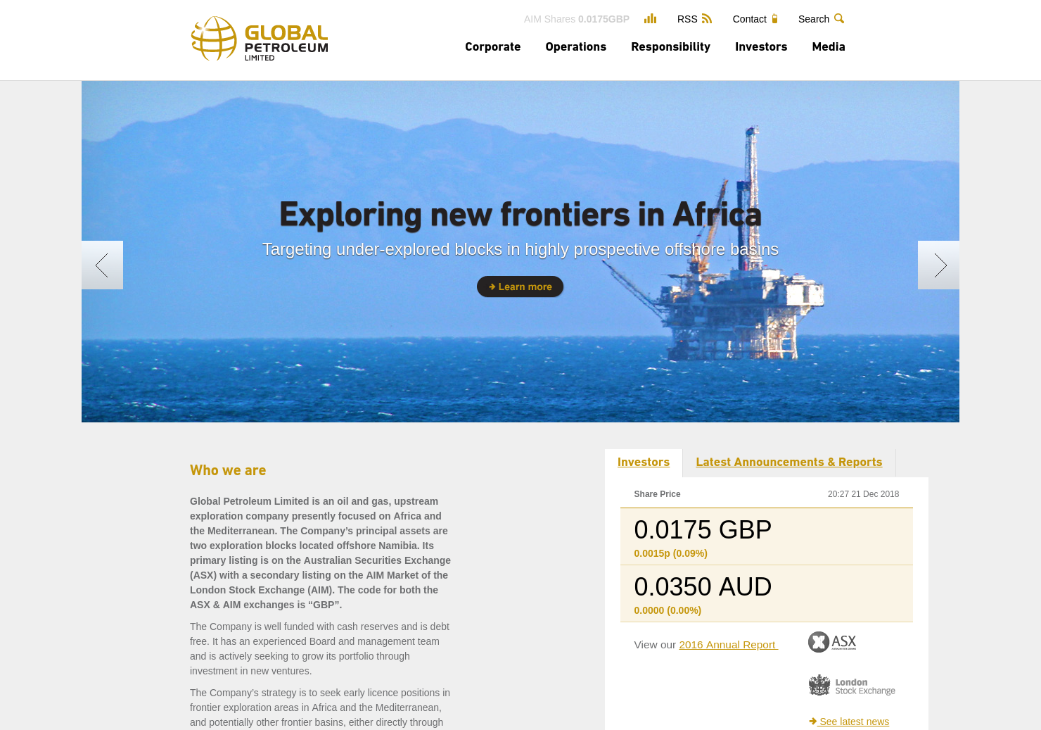 Global Petroleum Home Page