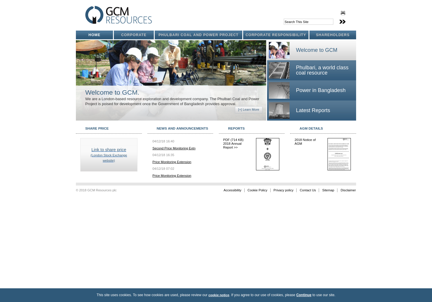 GCM Resources Home Page