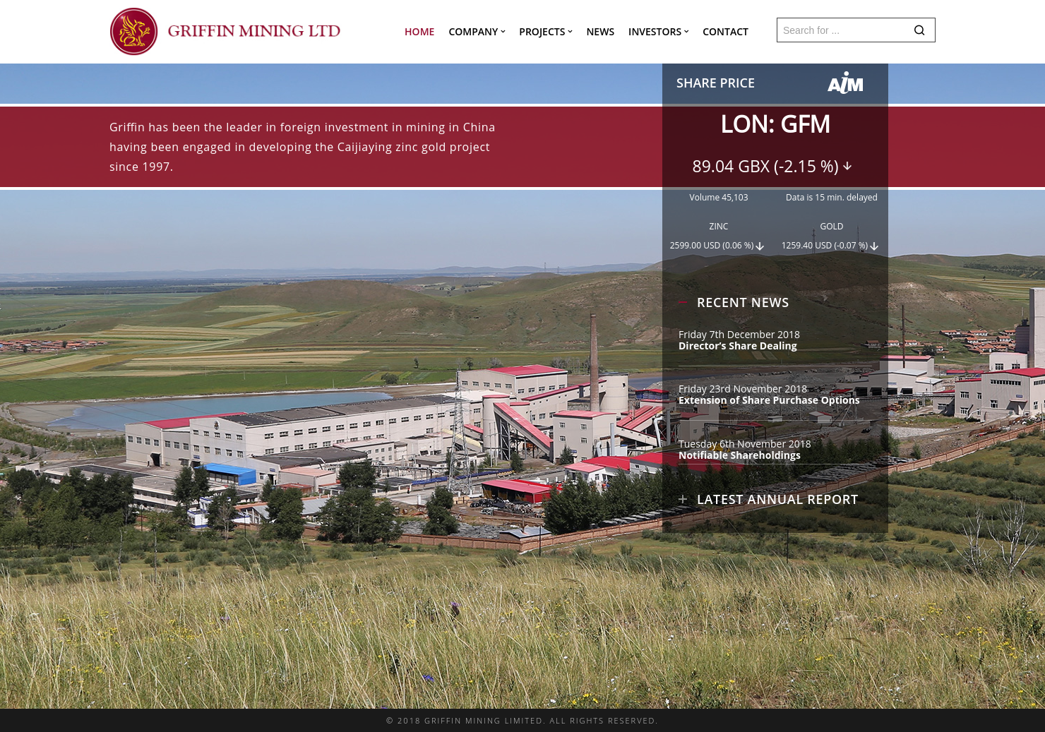 Griffin Mining Home Page