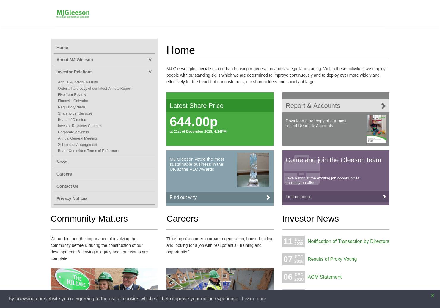 MJGleeson Home Page