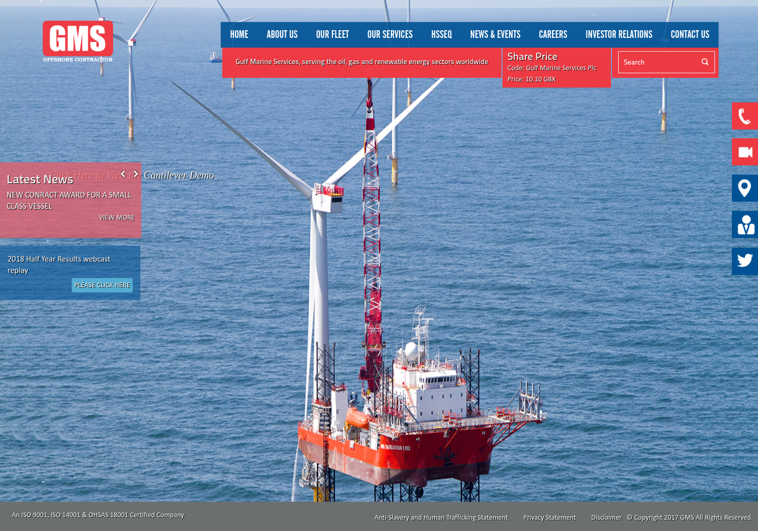 Gulf Marine Services Home Page