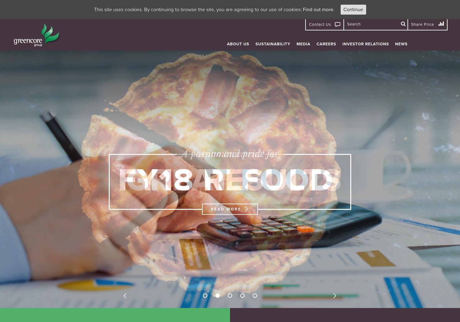 Greencore Home Page