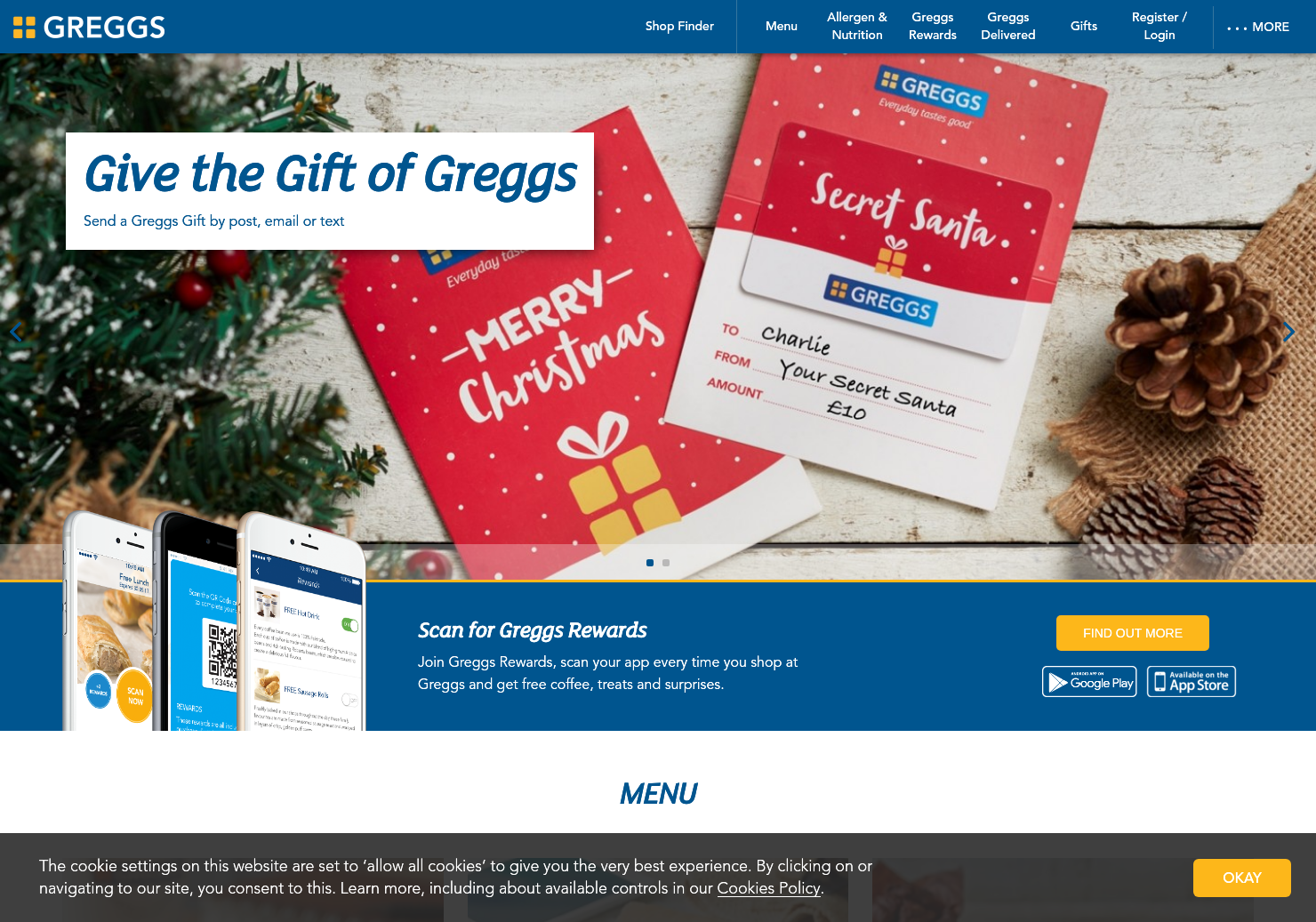 Greggs Home Page