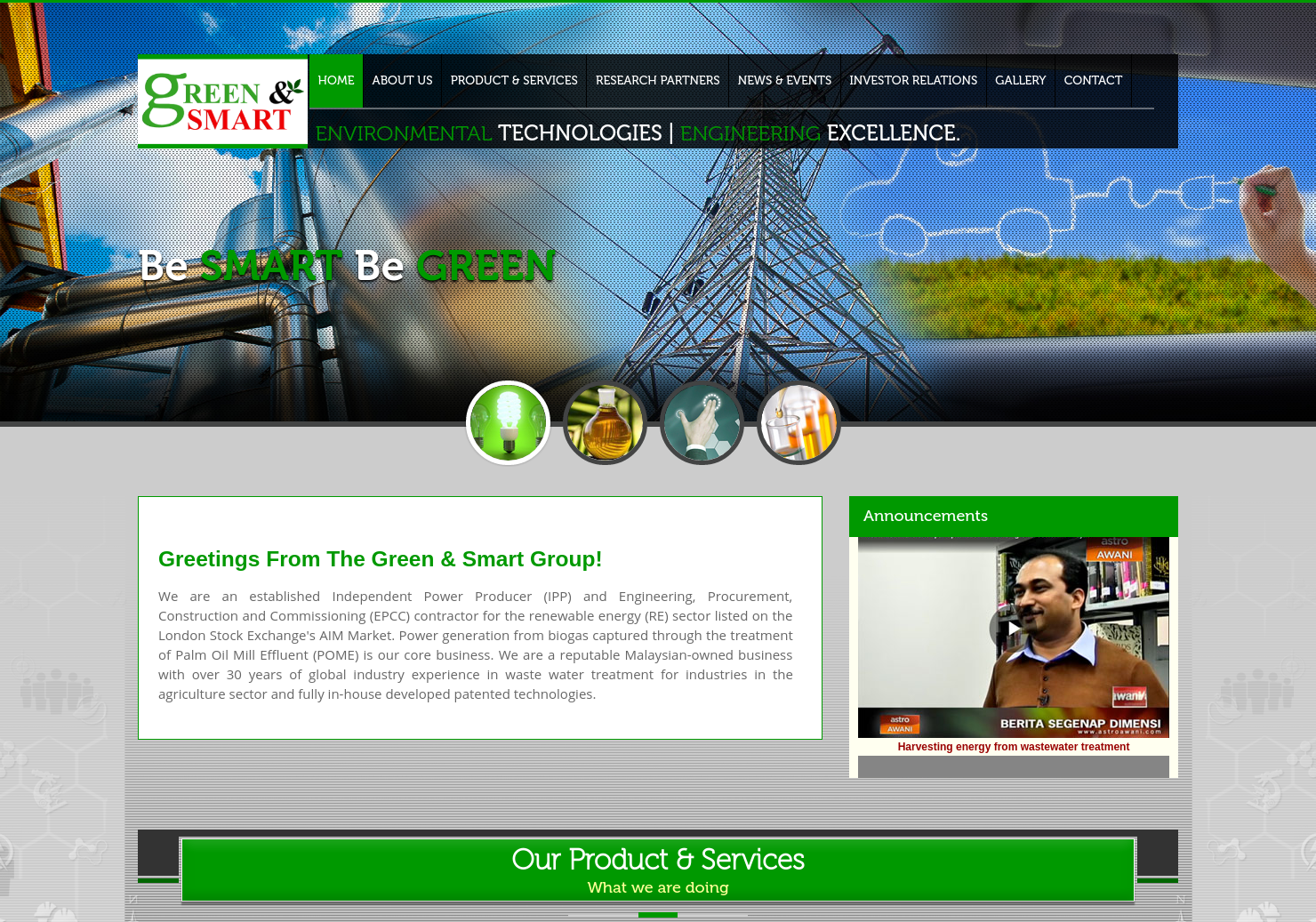 Green Smart Home Page
