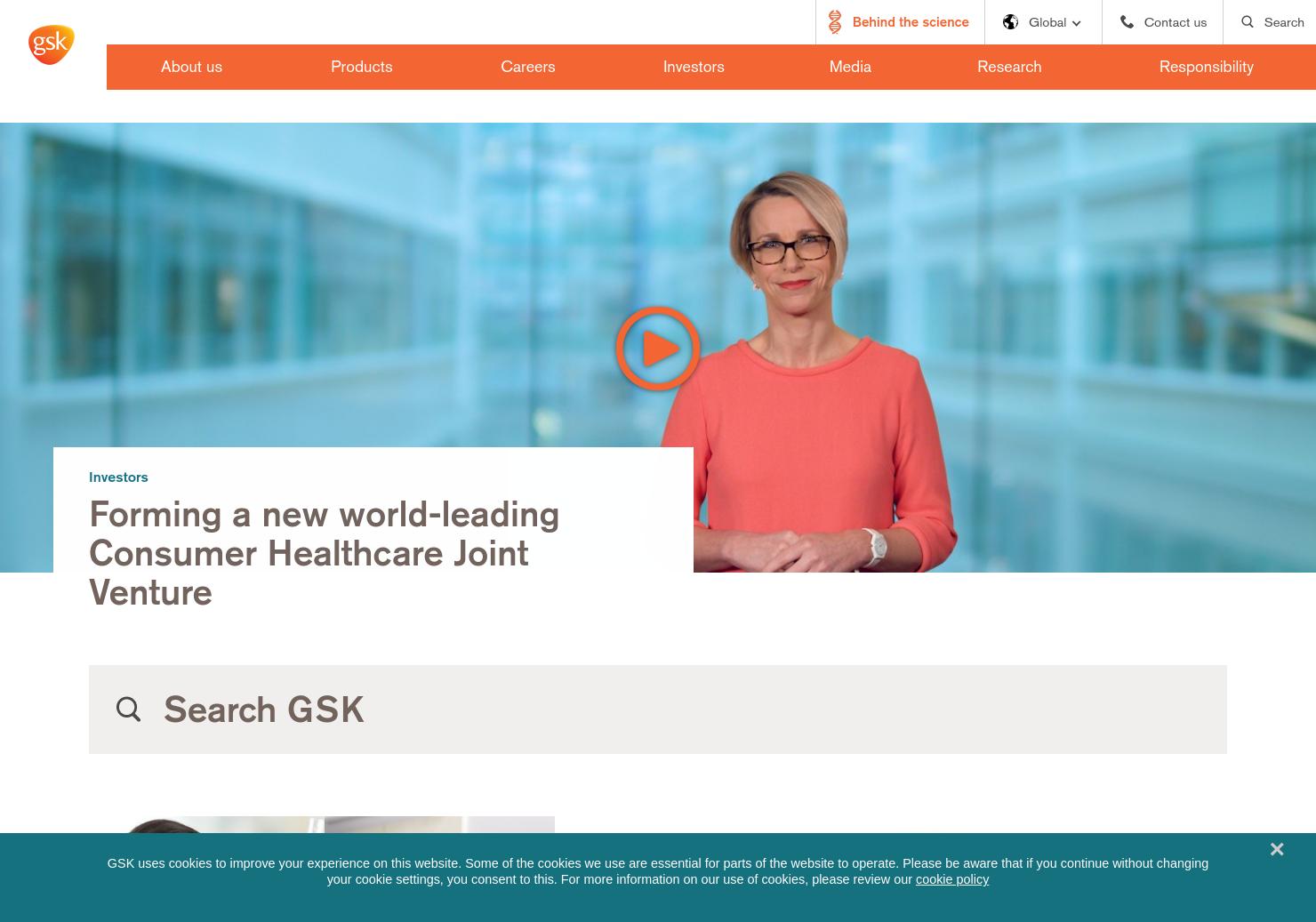 Glaxosmithkline Home Page