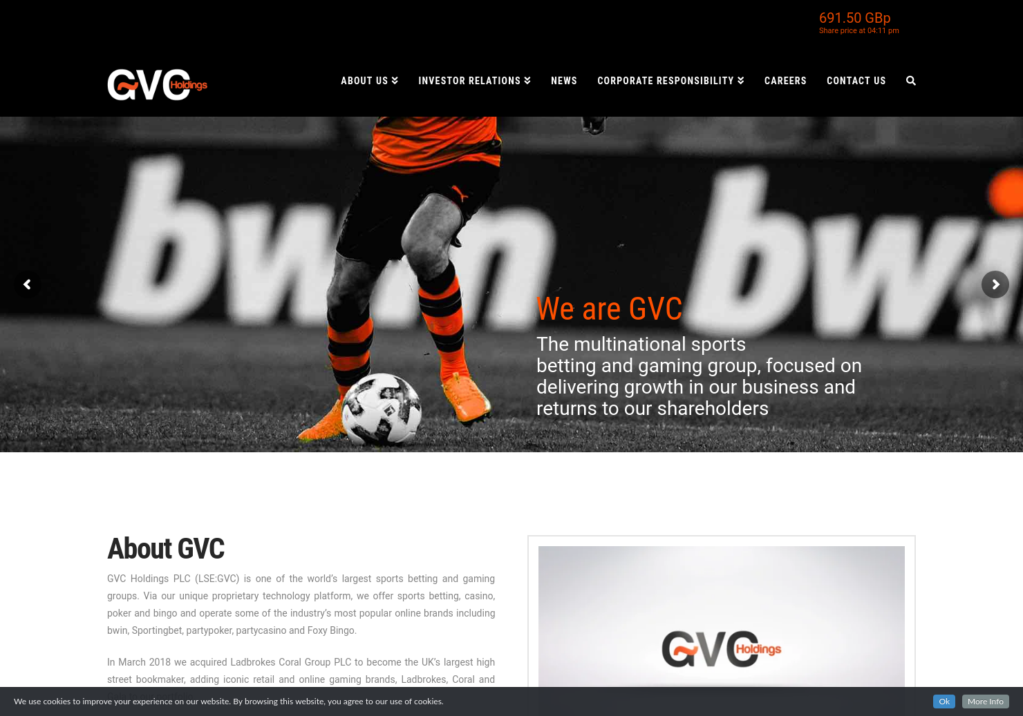 GVC Holdings Home Page