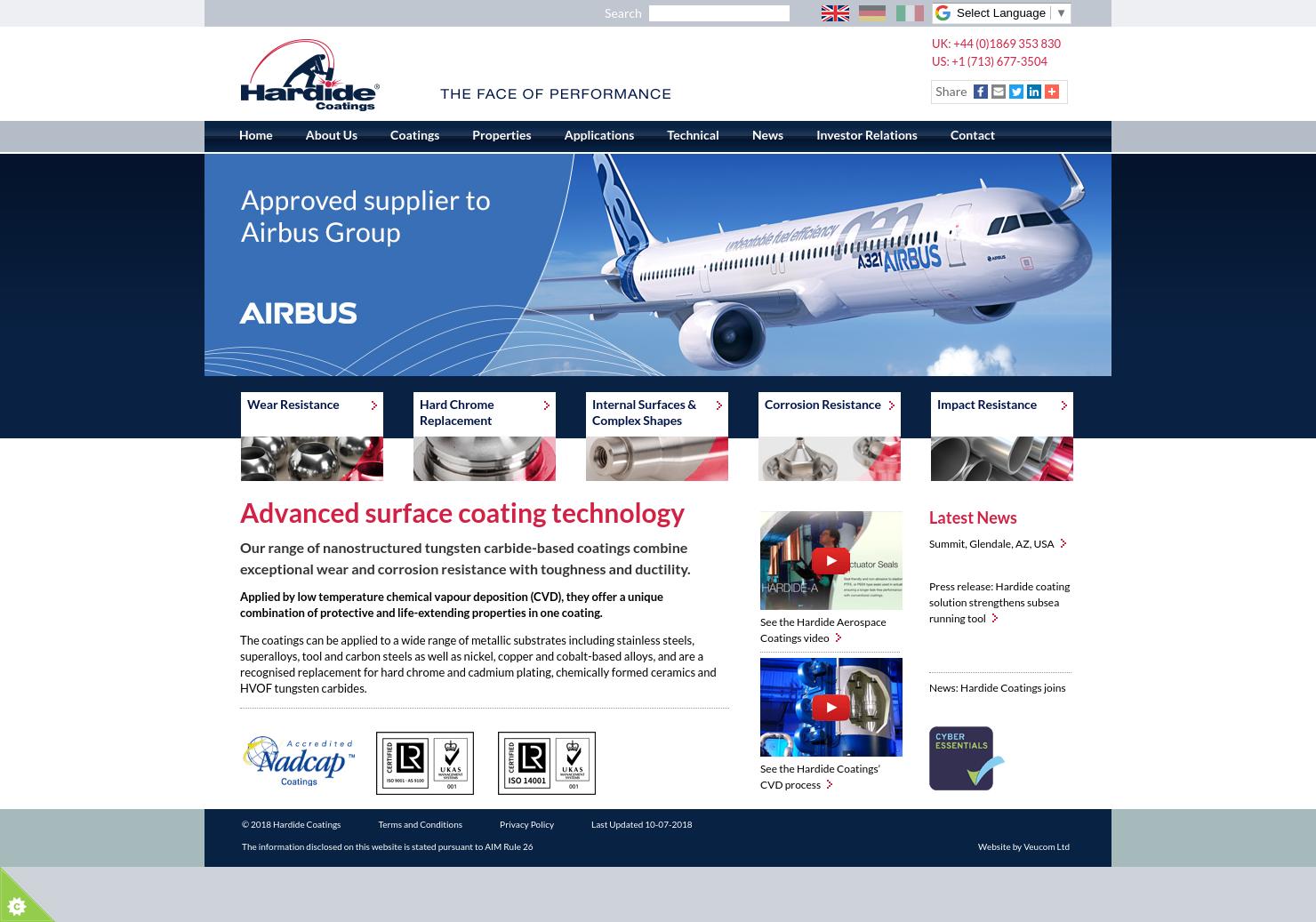 Hardide Home Page