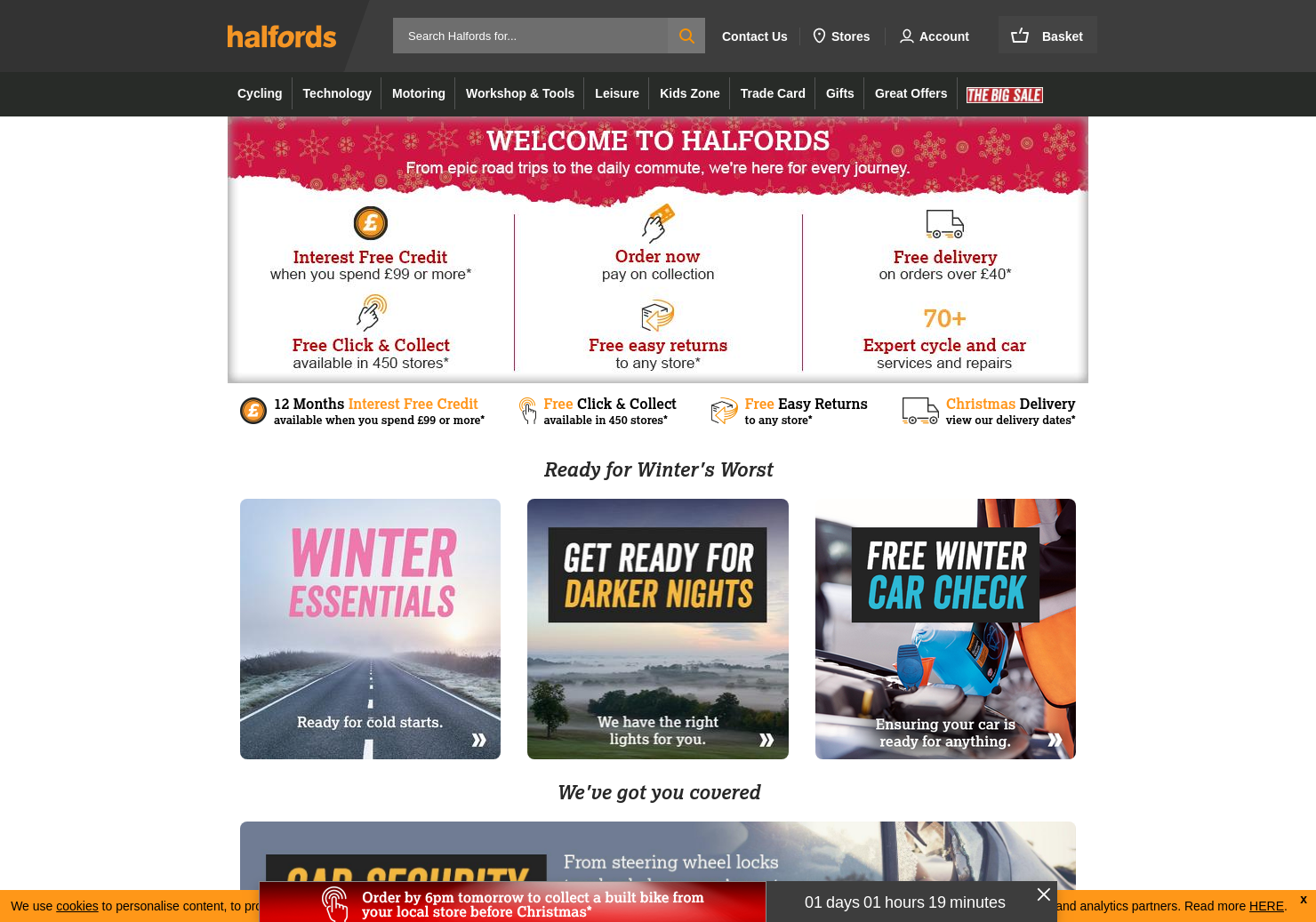 Halfords Home Page