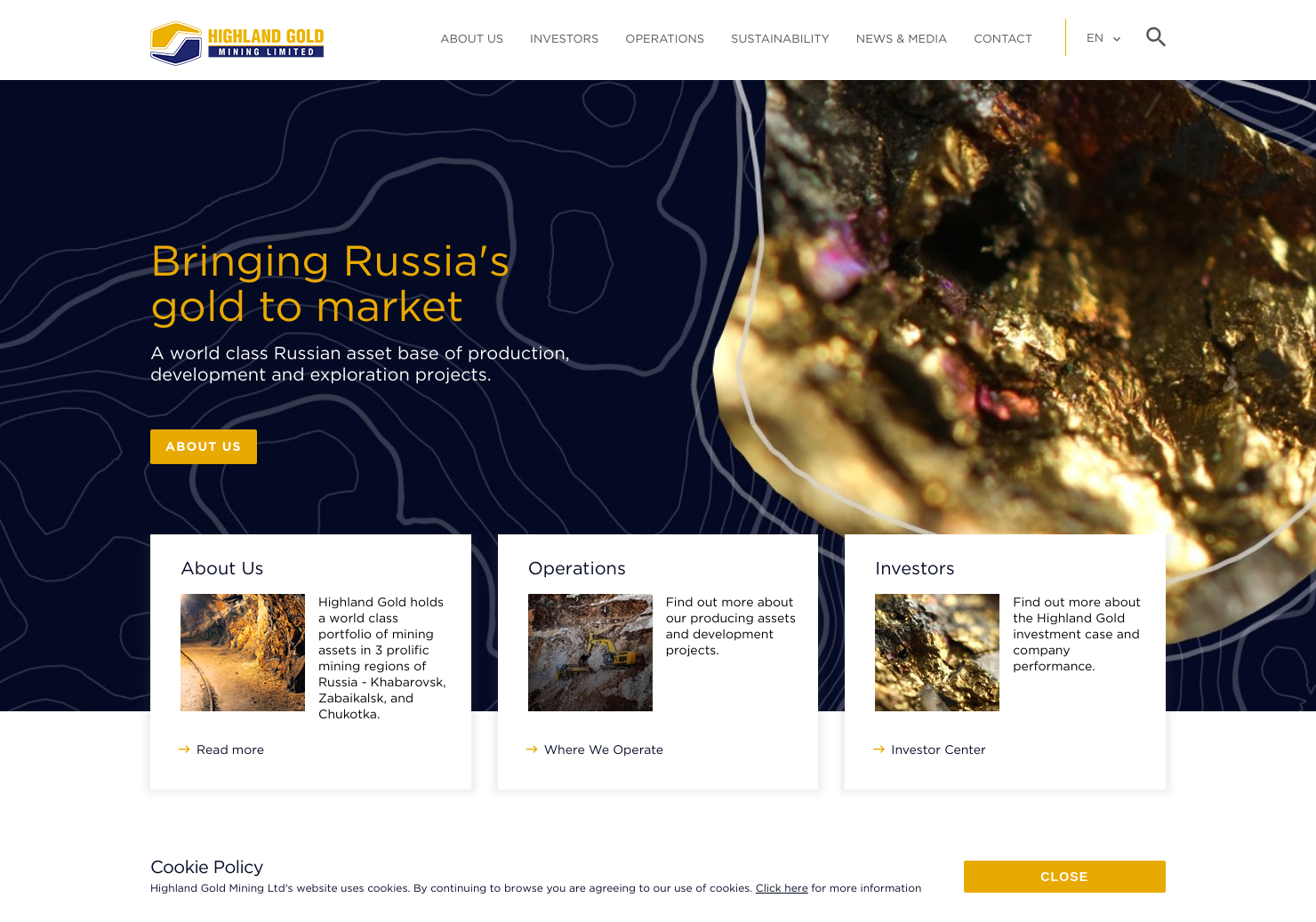 Highland Gold Home Page