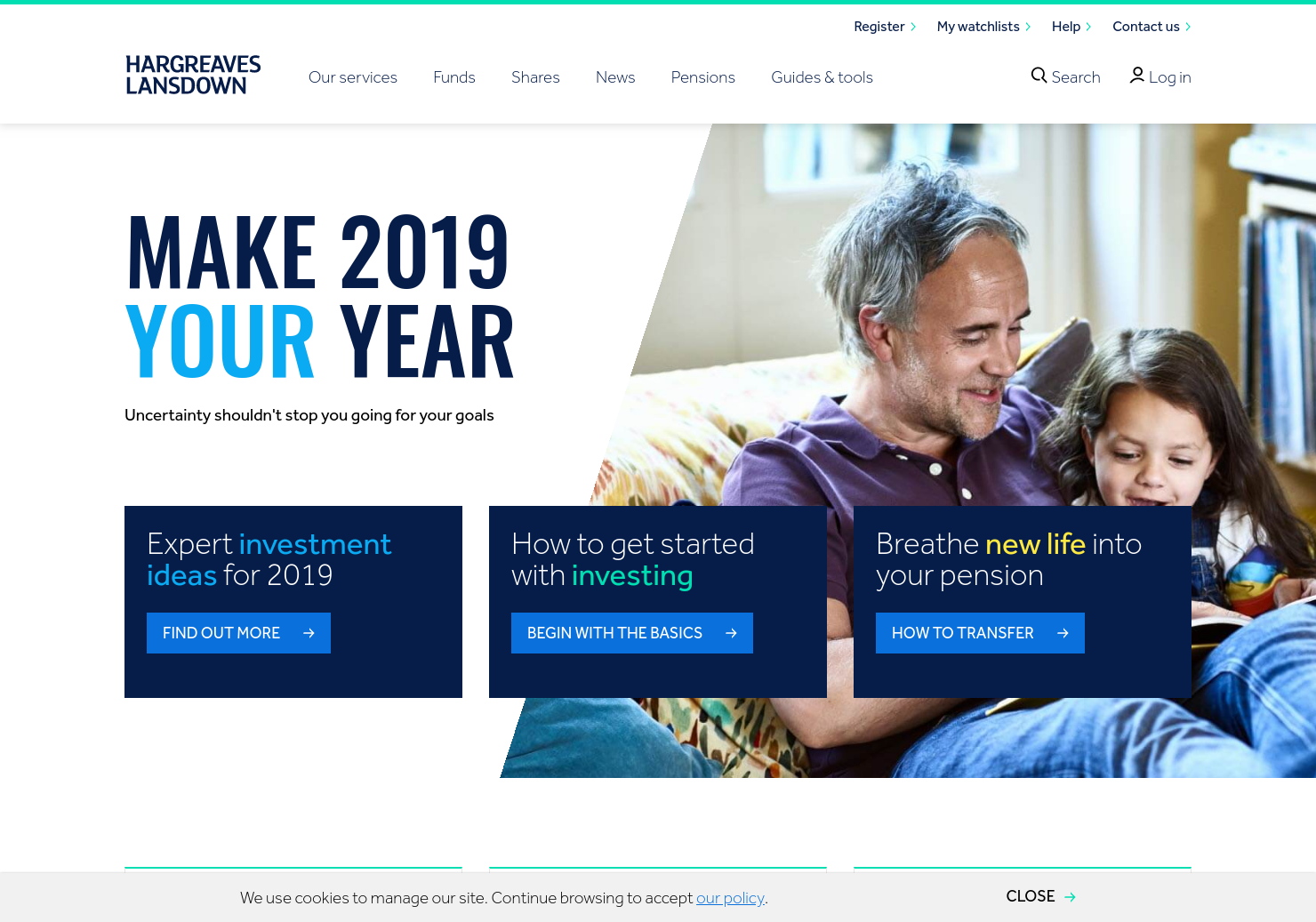 Hargreaves Lansdown Home Page