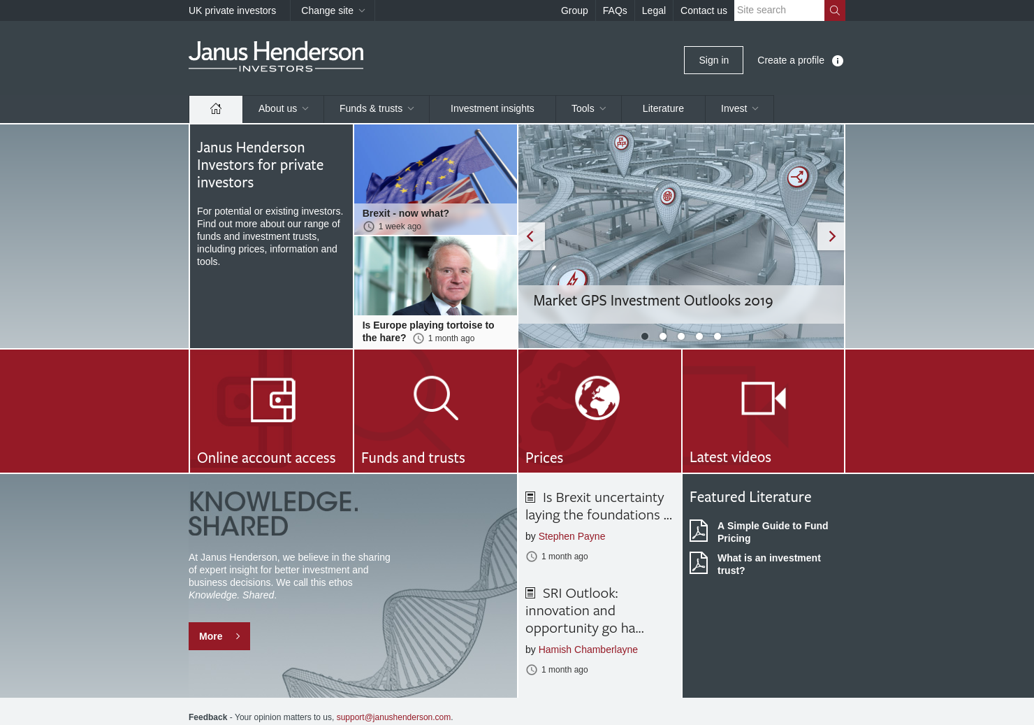 Henderson Opportunity Trust Home Page