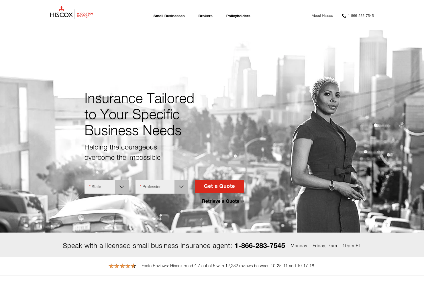 Hiscox Home Page