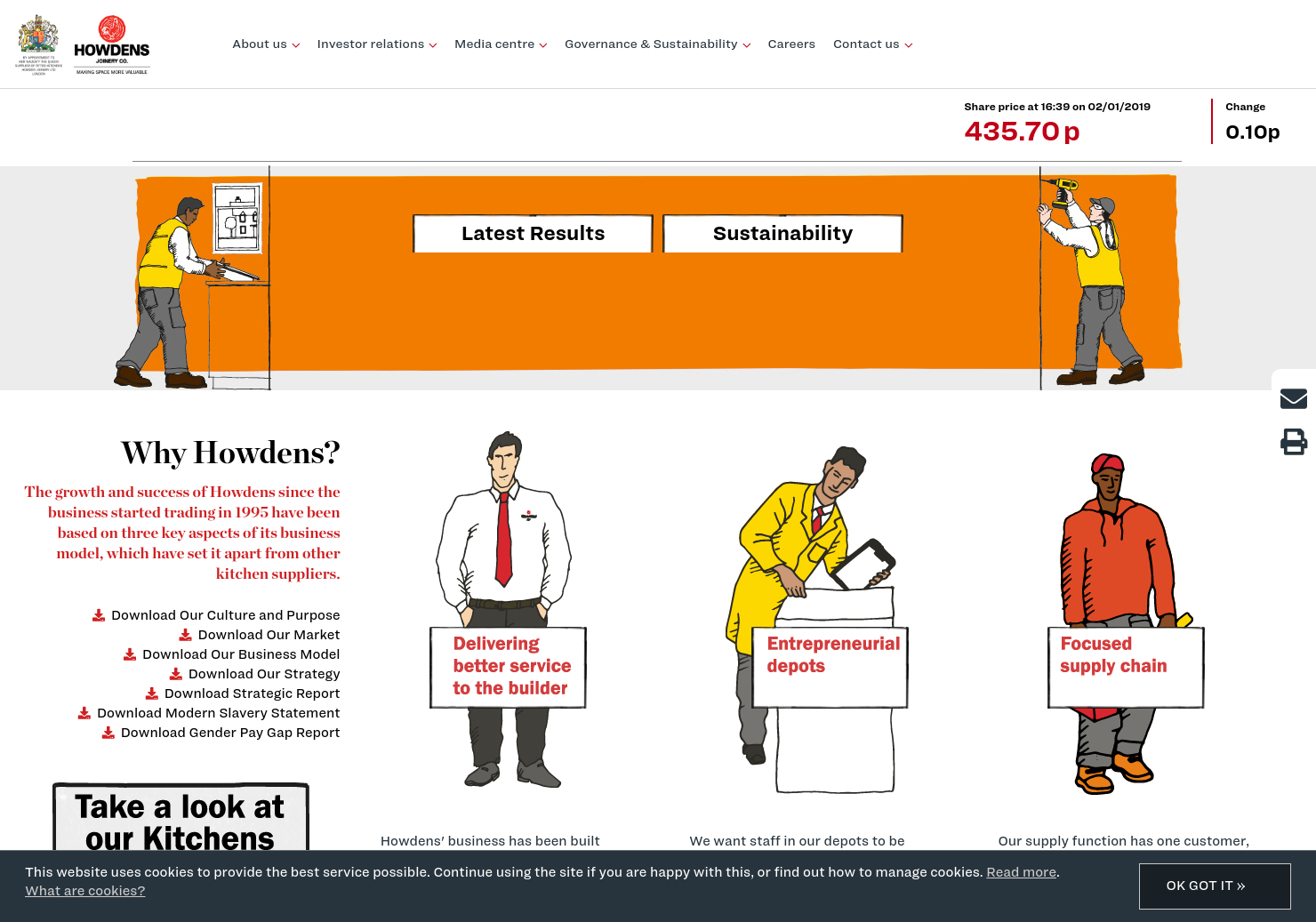 Howden Joinery Home Page