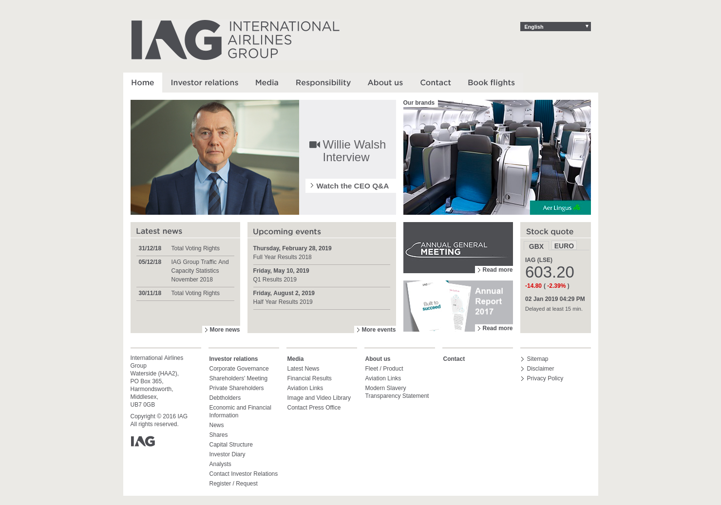 International Airlines Home Page
