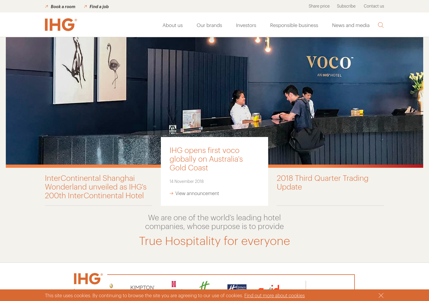 InterContinental Hotels Home Page