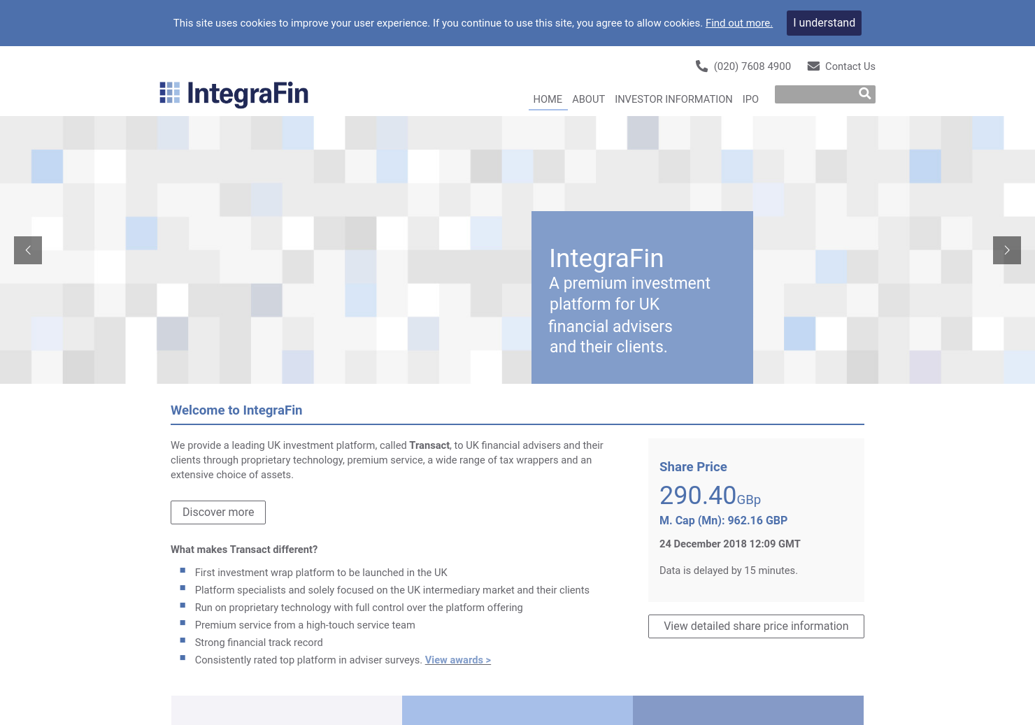 IntegraFin Holdings Home Page