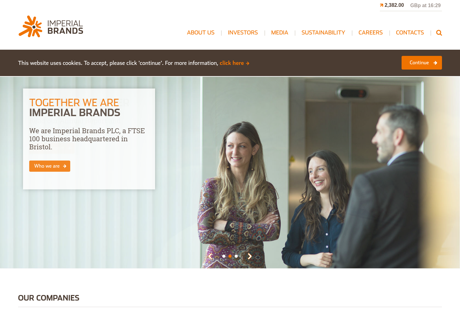 Imperial Brands Home Page