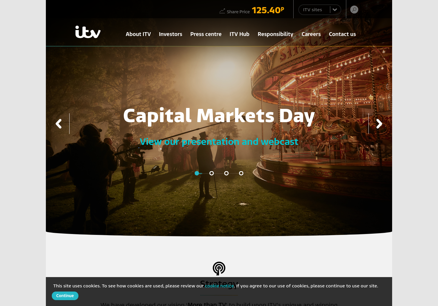 ITV Home Page