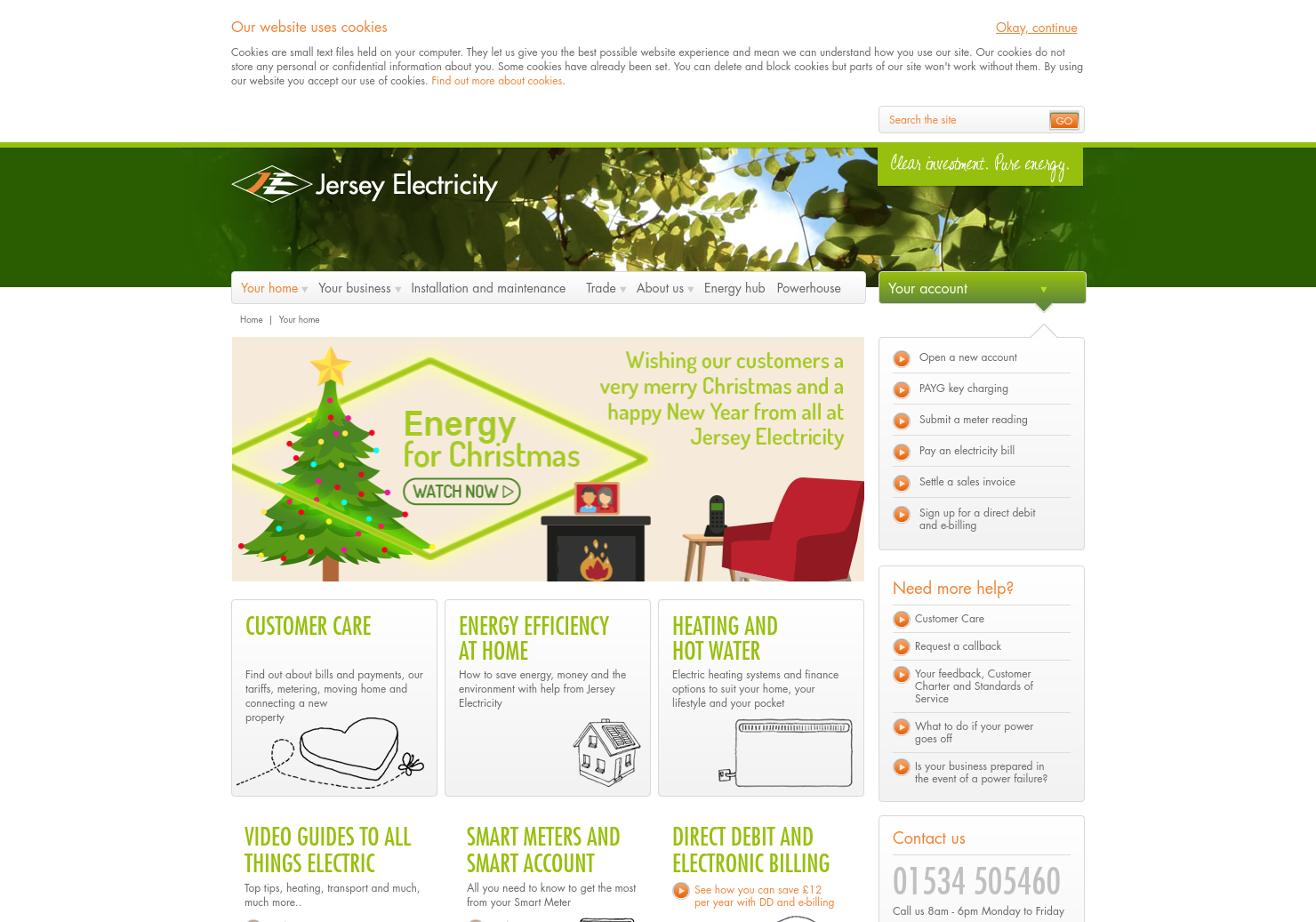 Jersey Electricity Home Page