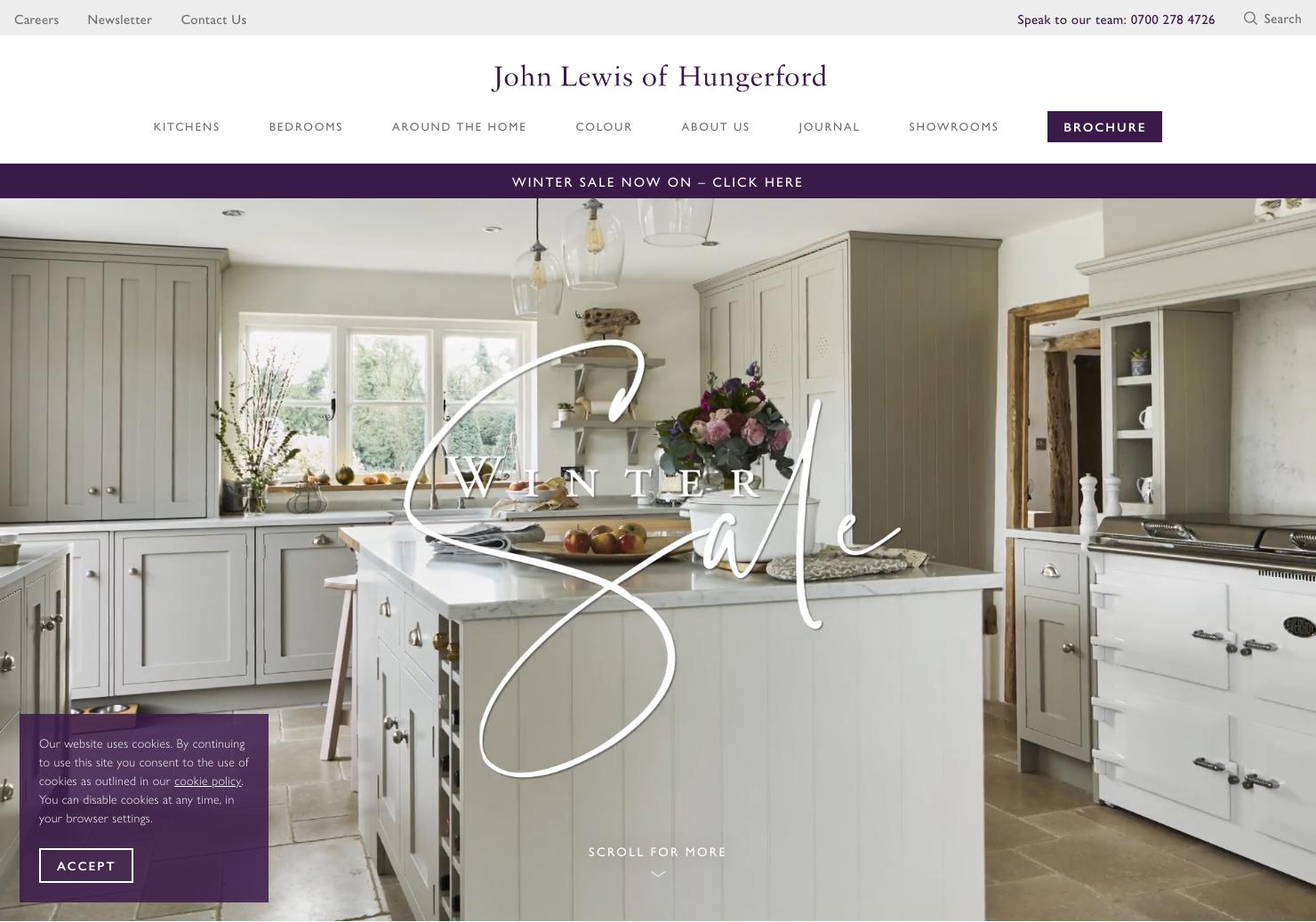 John Lewis Home Page