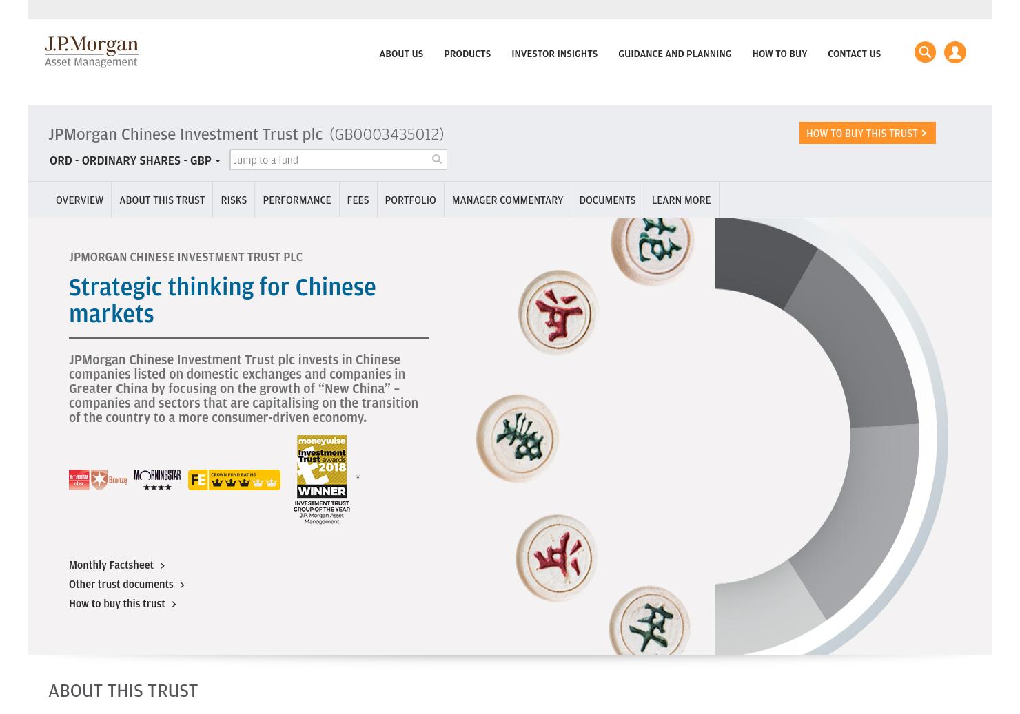 JPMorgan Chinese Home Page