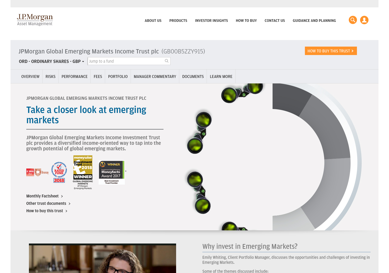 JPMorgan Emerging Markets Investment Trust Home Page