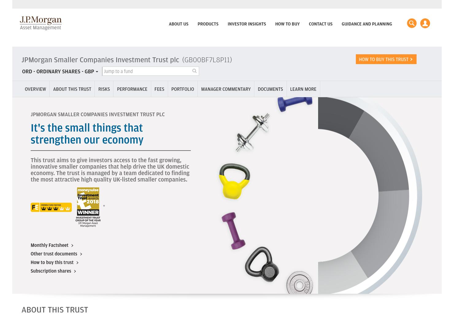 JPMorgan Smaller Companies Home Page