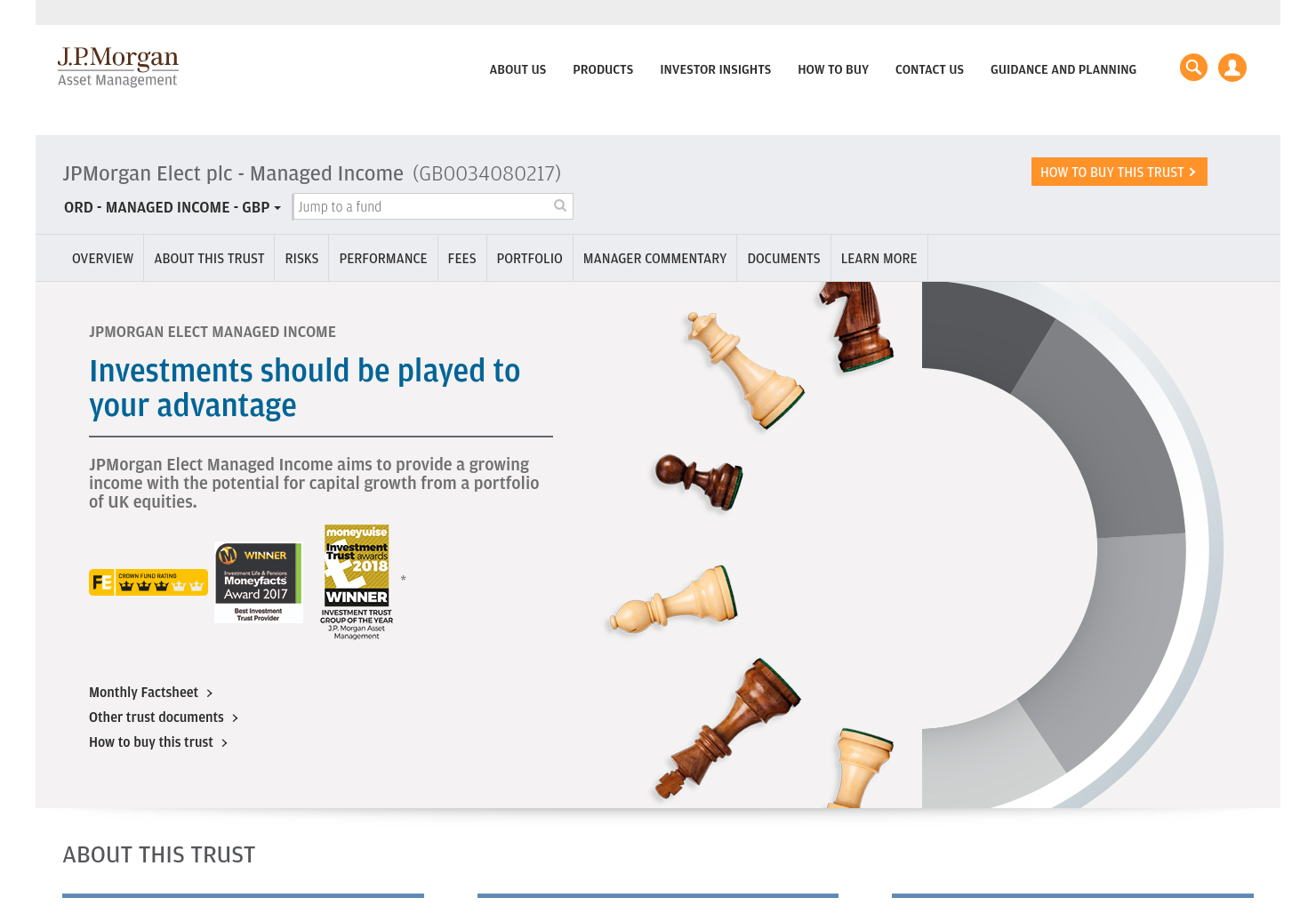 JPMorgan Elect Managed Income Home Page