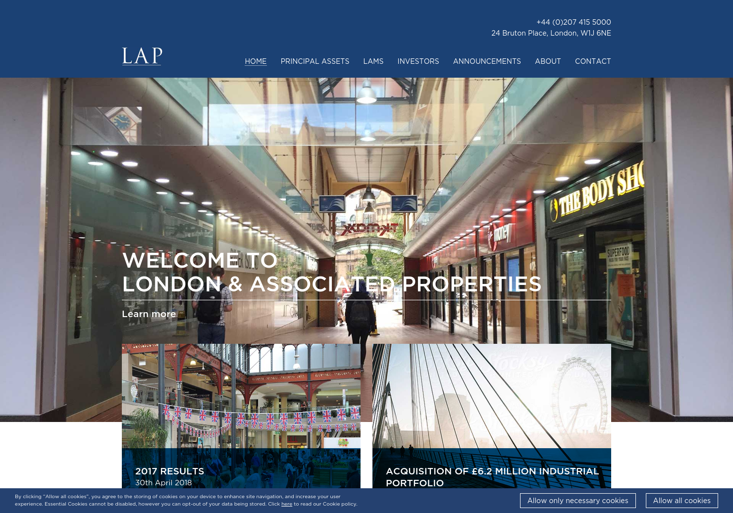 London & Associated Properties Home Page