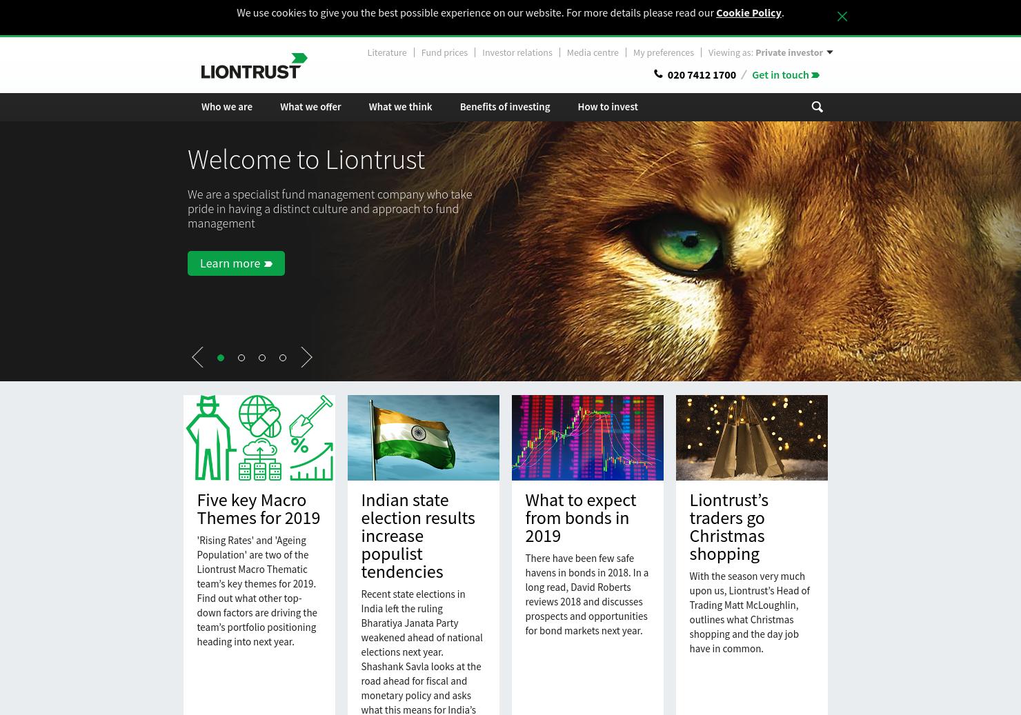Liontrust Asset Management Home Page