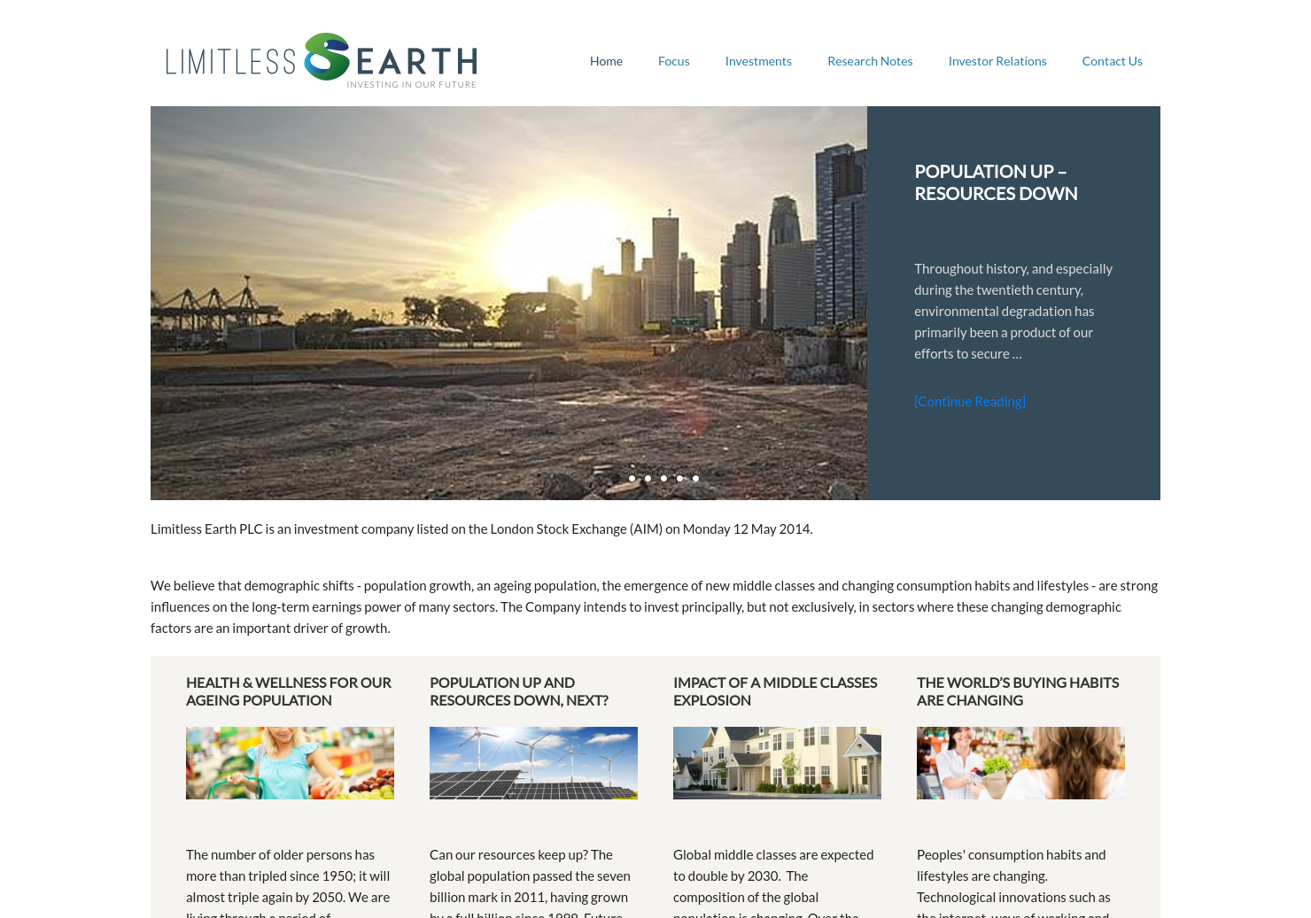 Limitless Earth Home Page