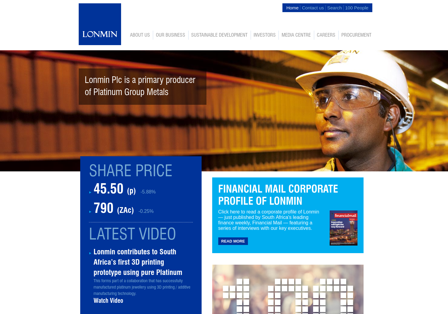 Lonmin Home Page