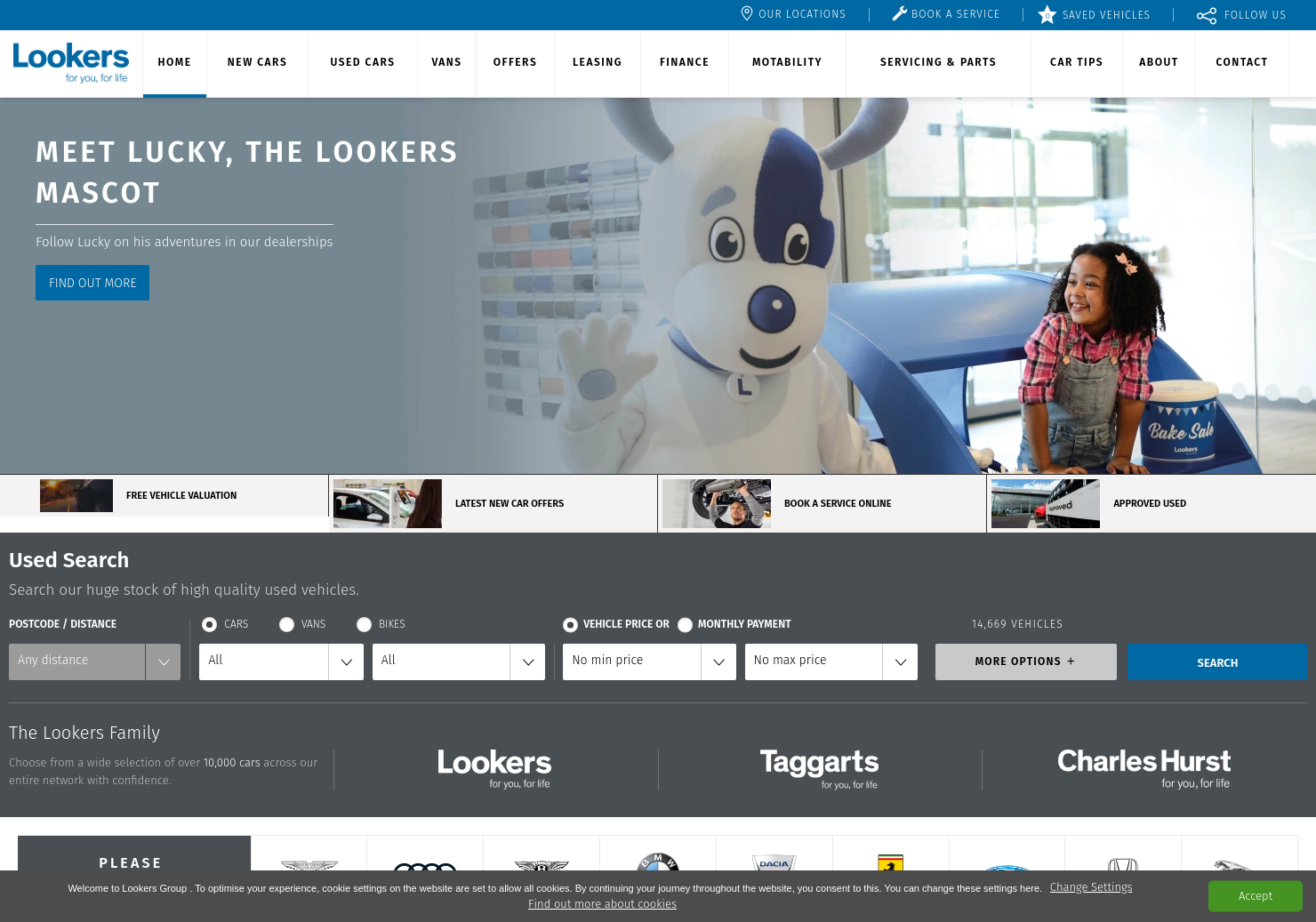 Lookers Home Page