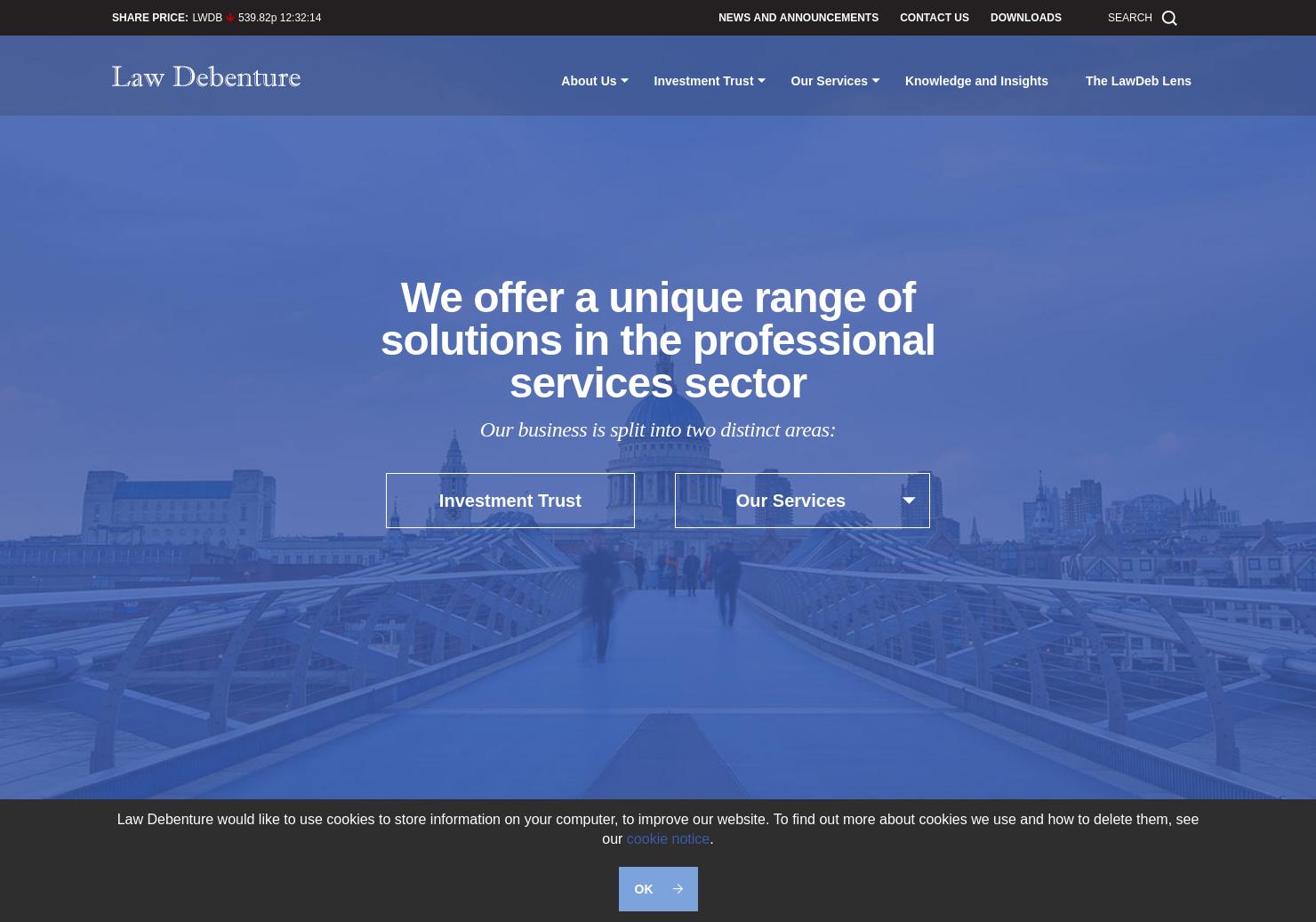 Law Debenture Home Page