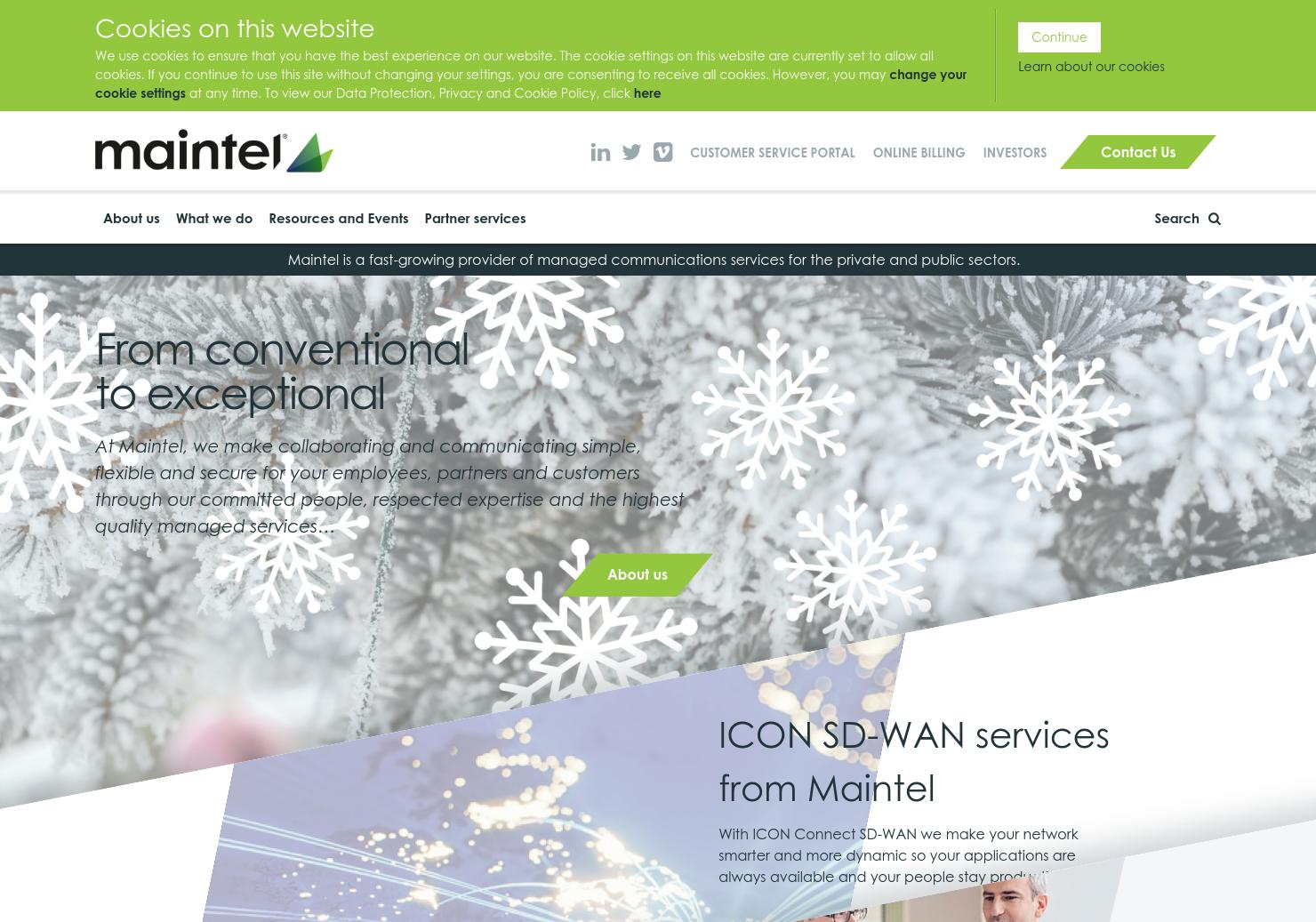 Maintel Home Page