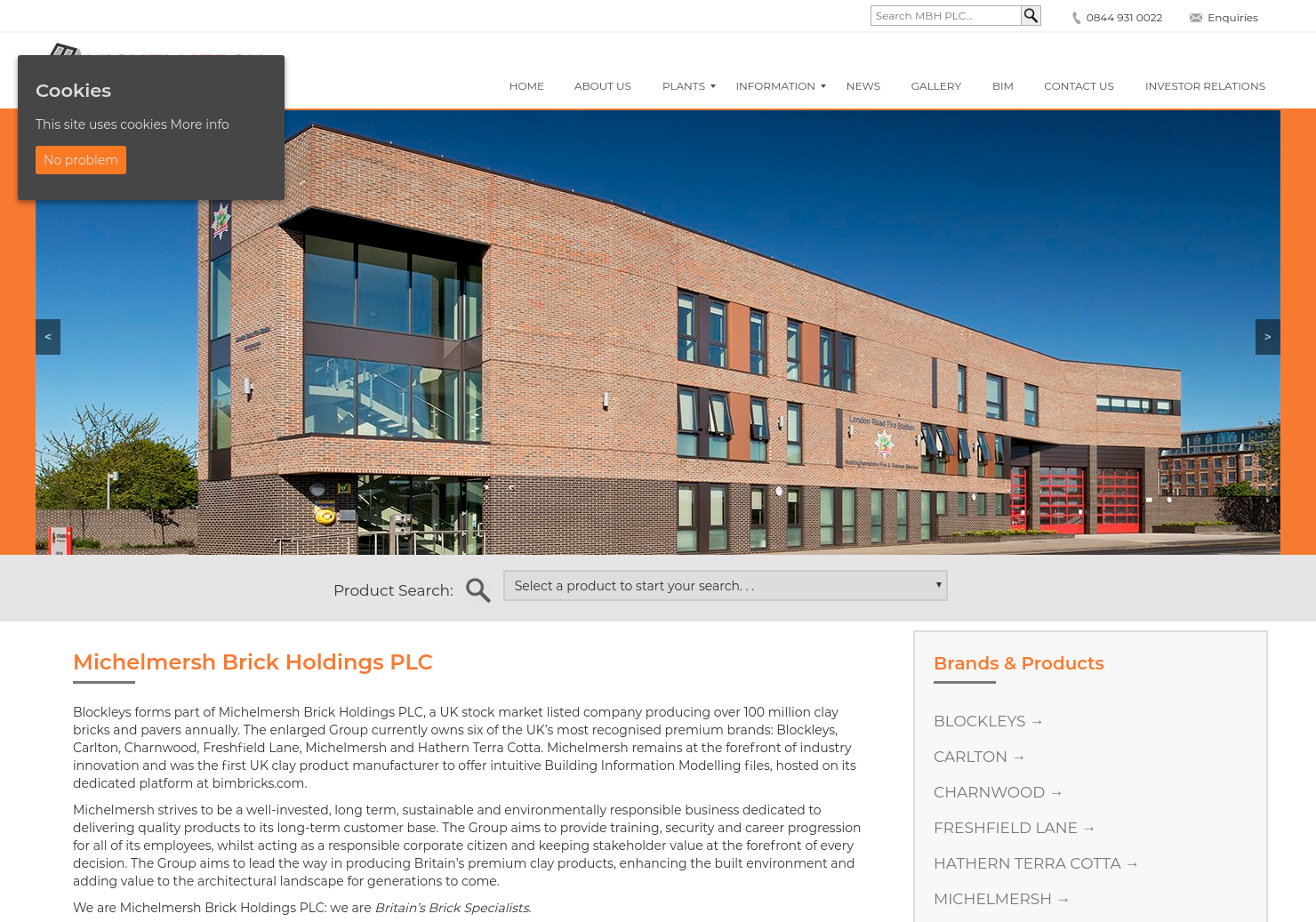 Michelmersh Brick Holdings Home Page