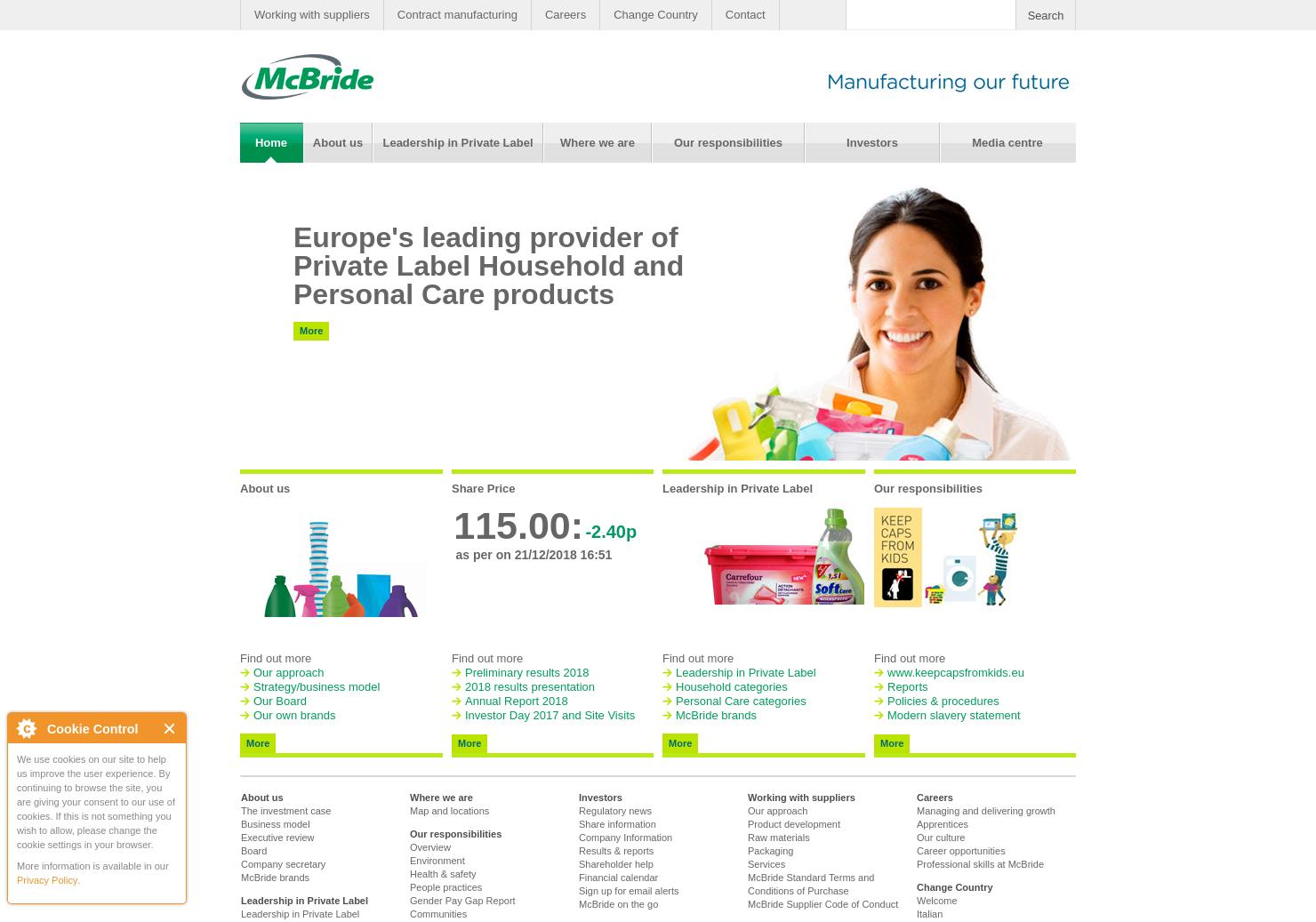 Mcbride Home Page