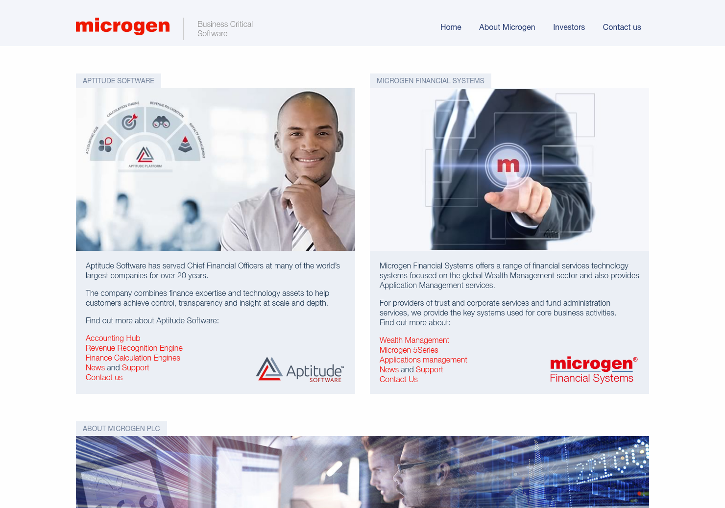 Microgen Home Page